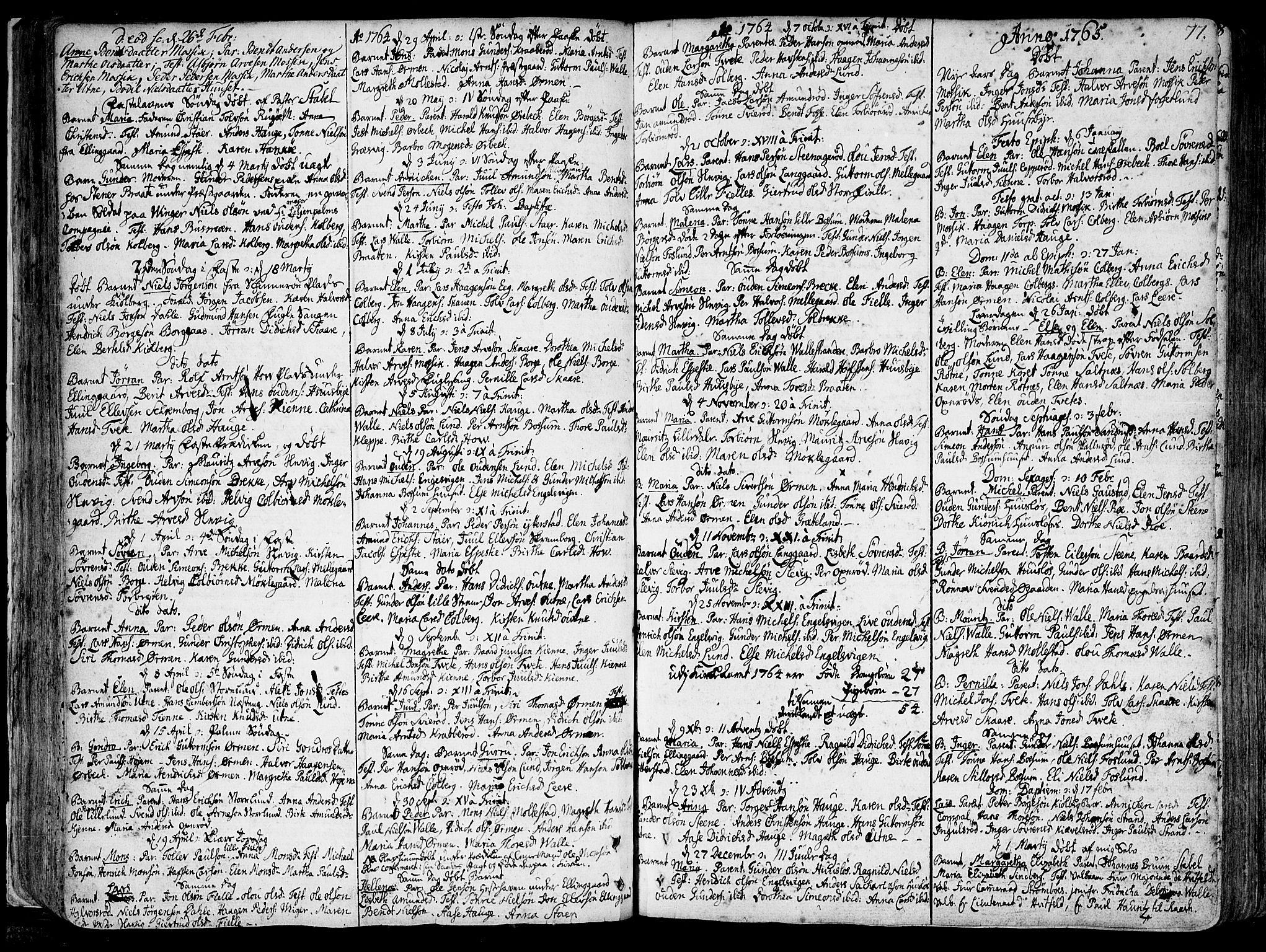 SAO, Onsøy prestekontor Kirkebøker, F/Fa/L0001: Ministerialbok nr. I 1, 1733-1814, s. 77