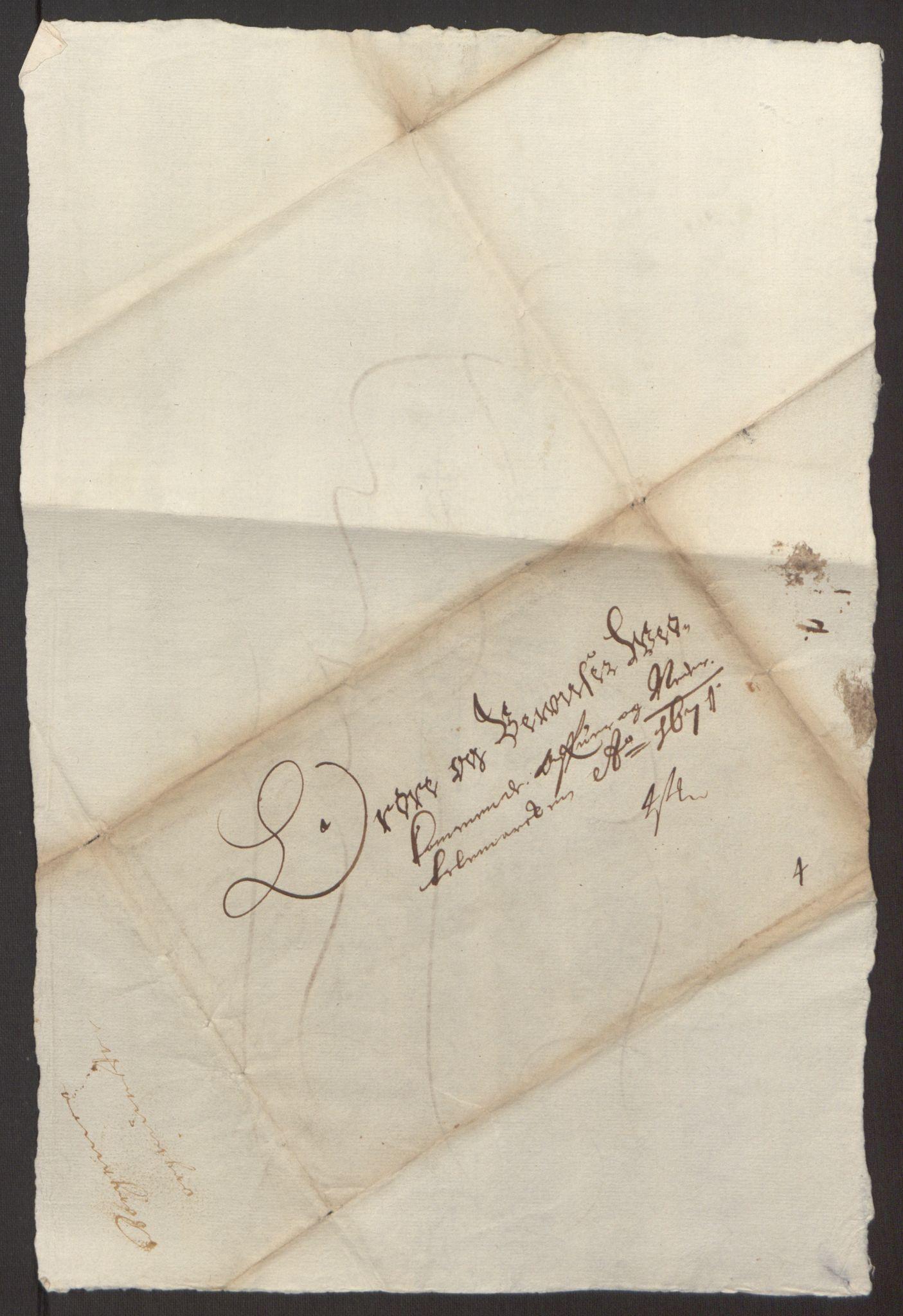 RA, Rentekammeret inntil 1814, Reviderte regnskaper, Fogderegnskap, R35/L2060: Fogderegnskap Øvre og Nedre Telemark, 1671-1672, s. 217