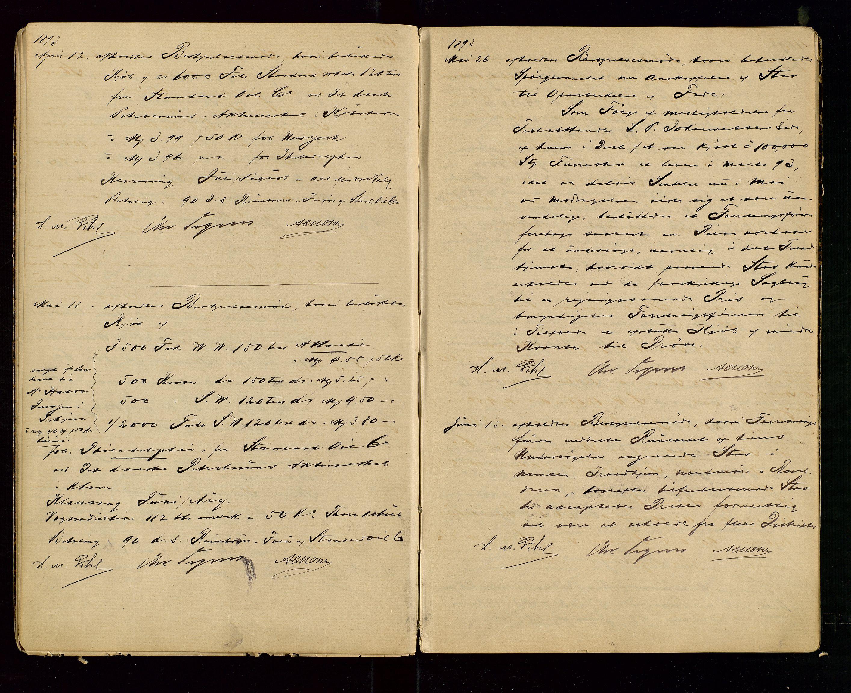 SAST, PA 1533 - A/S Vestlandske Petroleumscompani, A/Aa/L0001: Generalforsamlinger og styreprotokoller, 1890-1907, s. 14