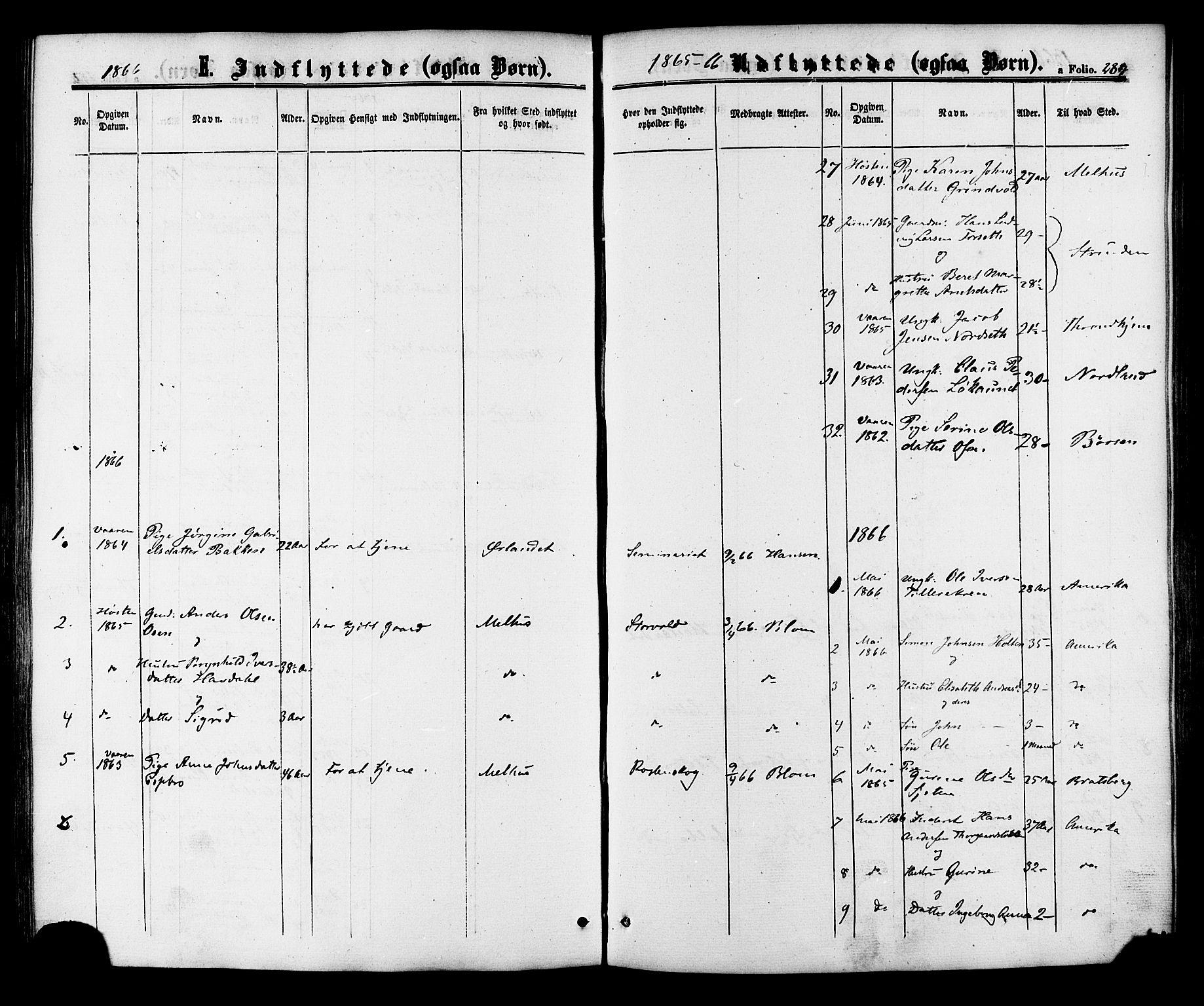 SAT, Ministerialprotokoller, klokkerbøker og fødselsregistre - Sør-Trøndelag, 618/L0442: Ministerialbok nr. 618A06 /1, 1863-1879, s. 284