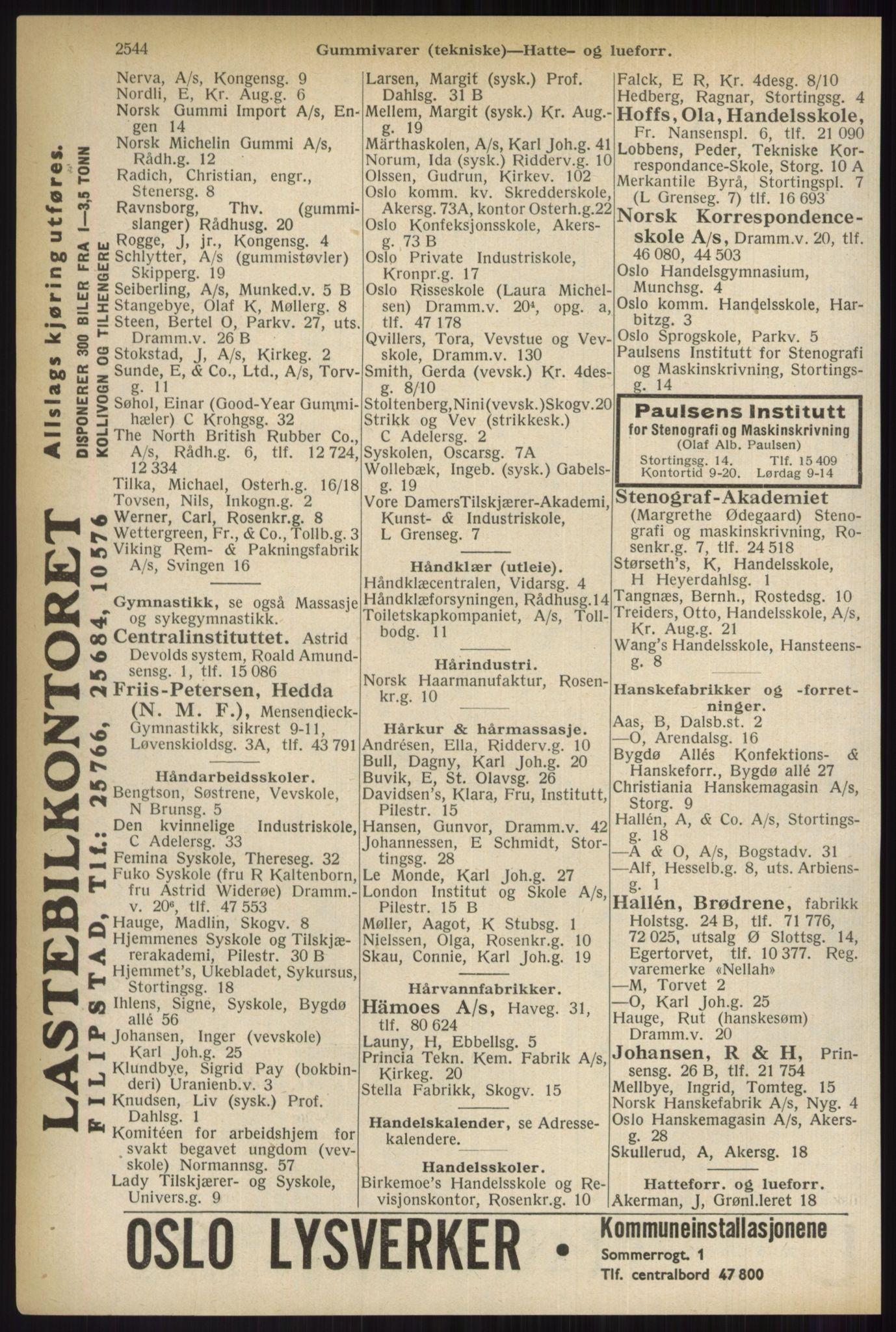 PUBL, Kristiania/Oslo adressebok, 1937, s. 2544
