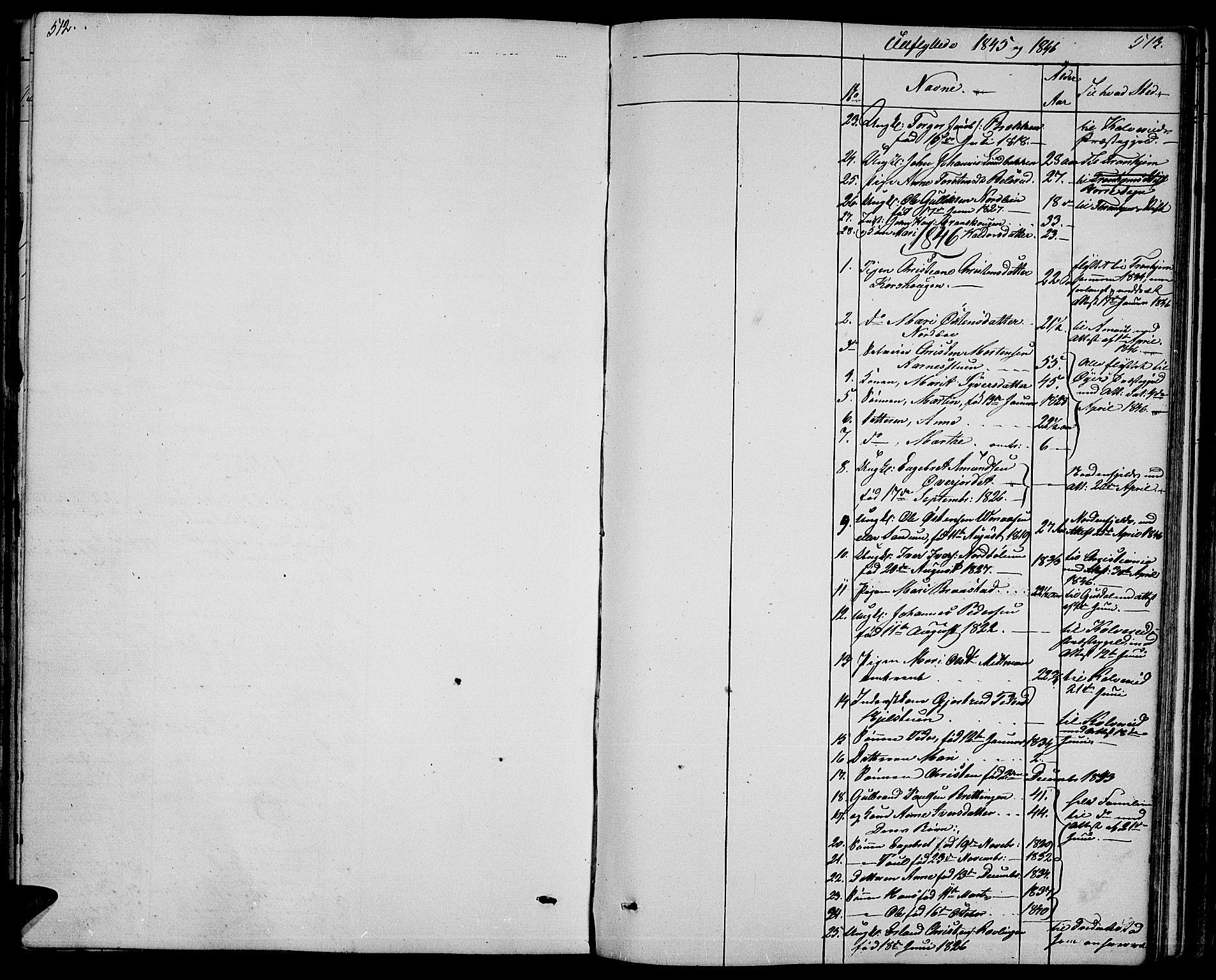 SAH, Ringebu prestekontor, Klokkerbok nr. 2, 1839-1853, s. 512-513