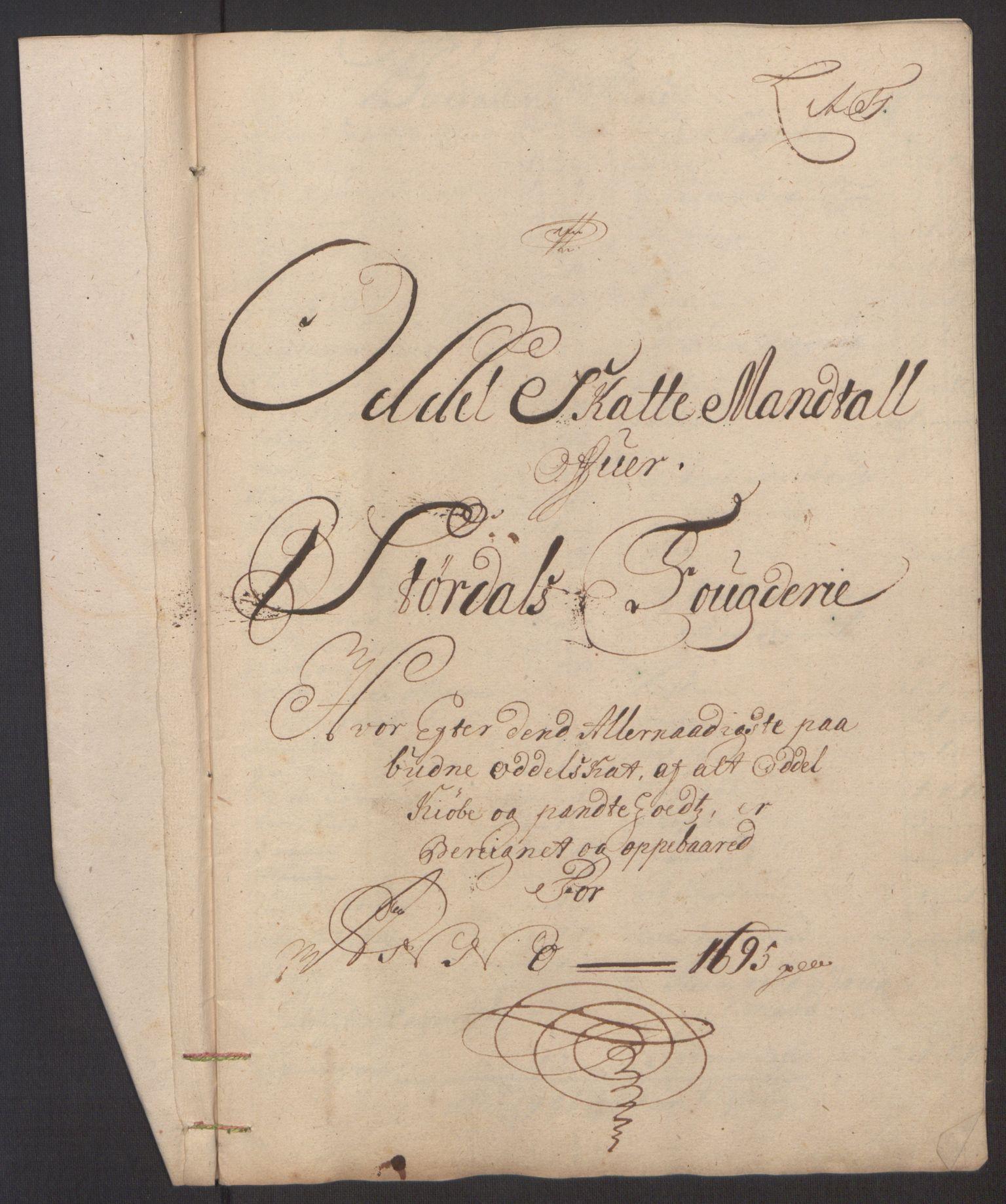 RA, Rentekammeret inntil 1814, Reviderte regnskaper, Fogderegnskap, R62/L4187: Fogderegnskap Stjørdal og Verdal, 1695, s. 96