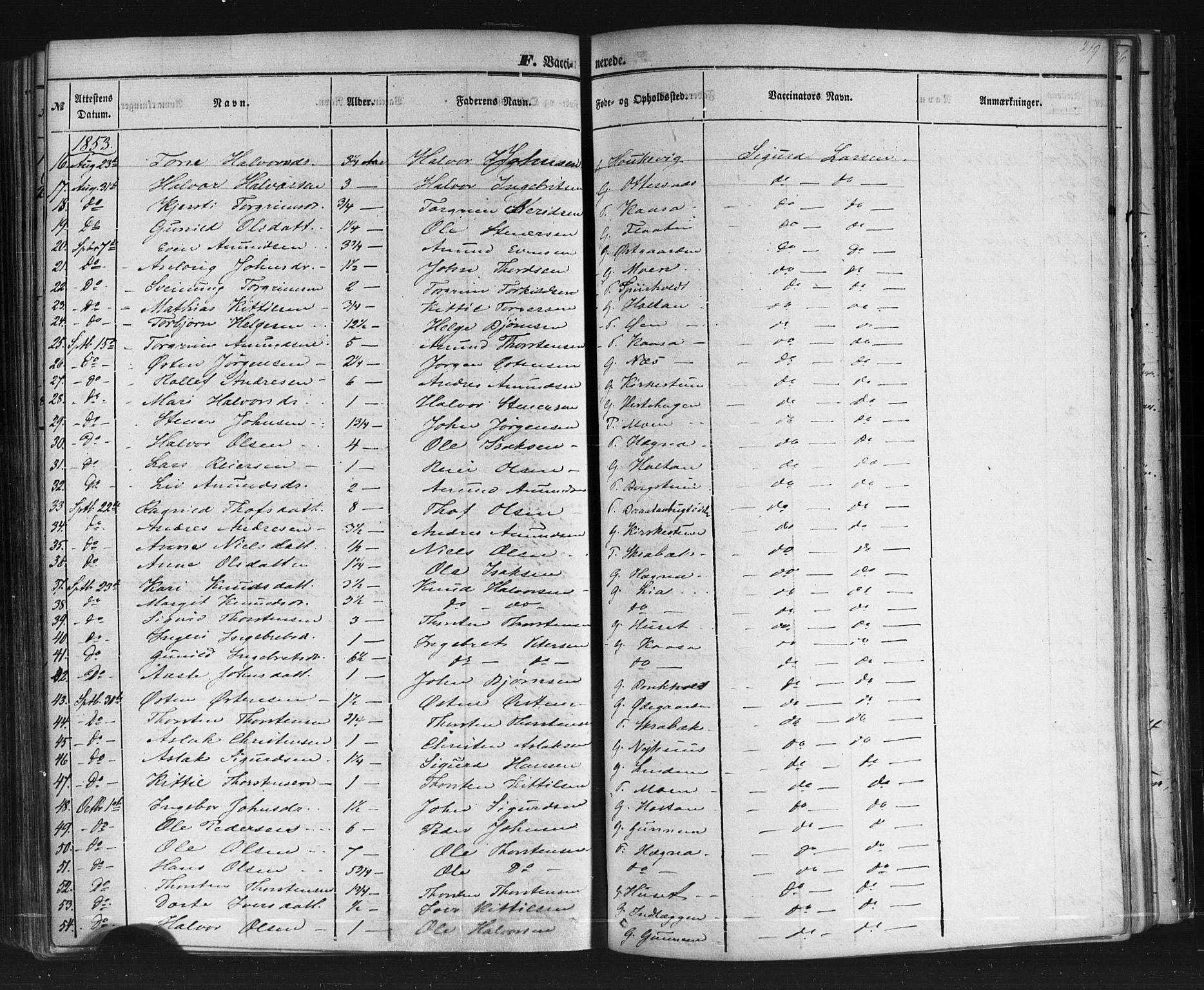 SAKO, Sauherad kirkebøker, F/Fb/L0001: Ministerialbok nr. II 1, 1851-1877, s. 219