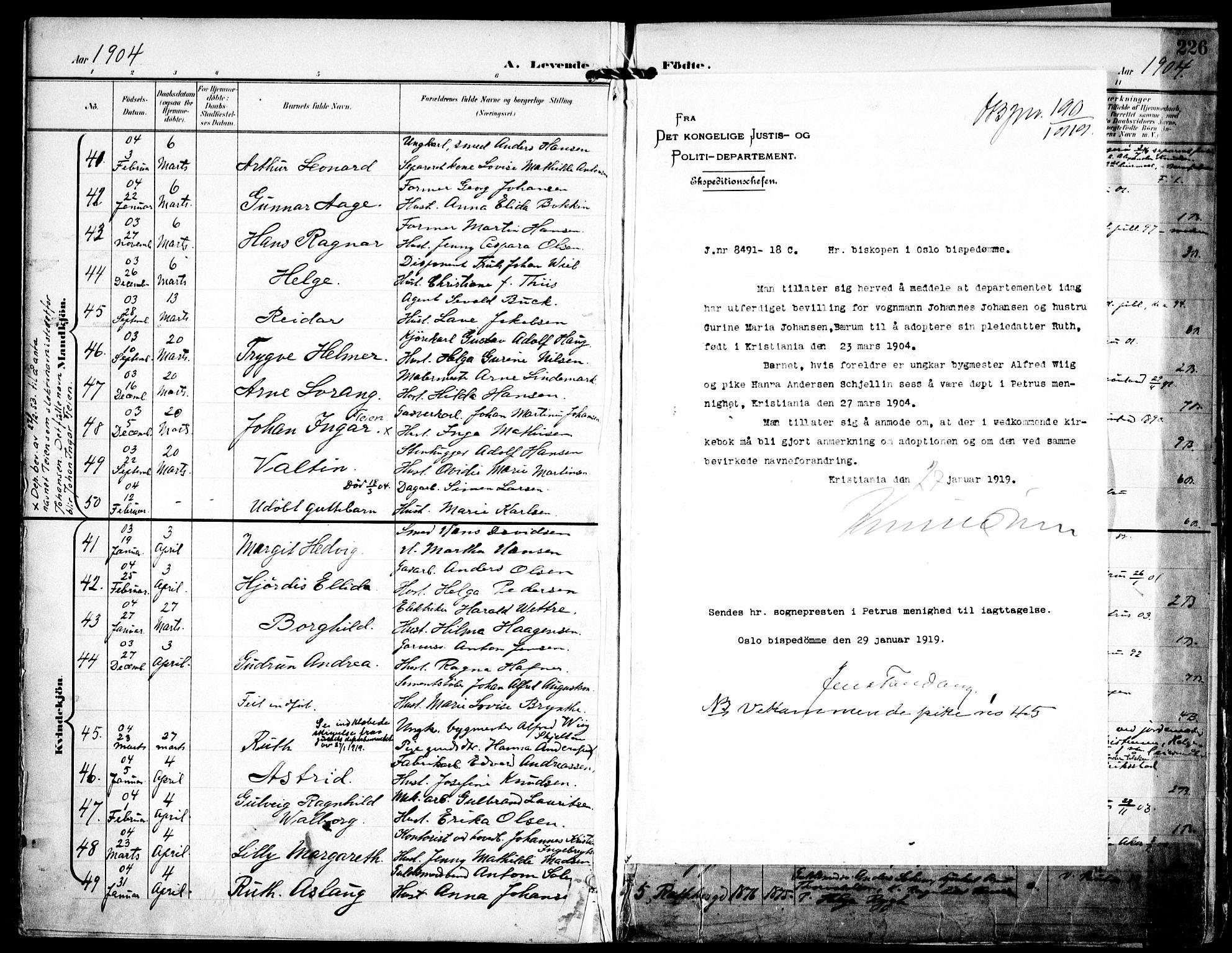 SAO, Petrus prestekontor Kirkebøker, F/Fa/L0008: Ministerialbok nr. 8, 1899-1909, s. 226