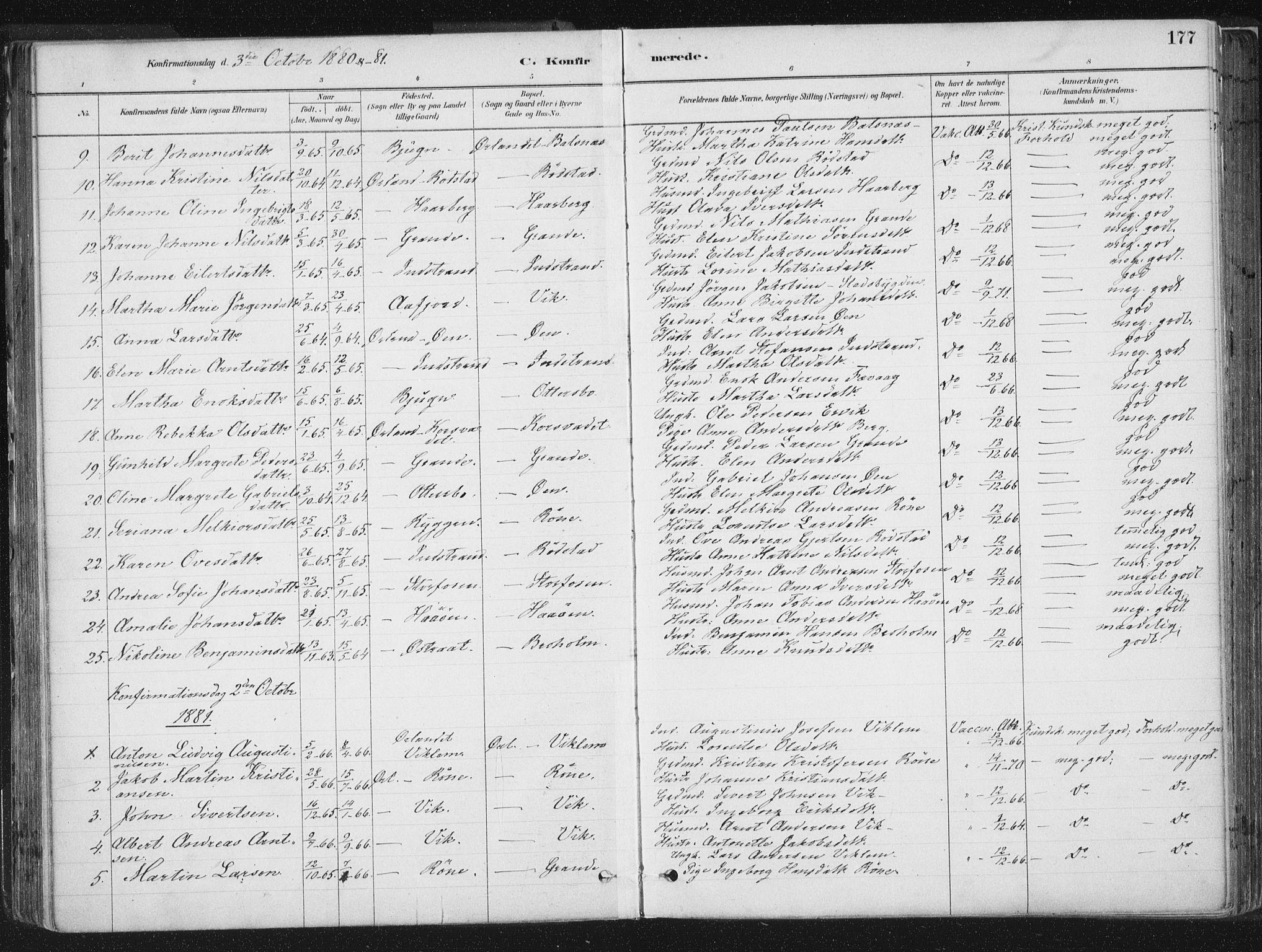SAT, Ministerialprotokoller, klokkerbøker og fødselsregistre - Sør-Trøndelag, 659/L0739: Ministerialbok nr. 659A09, 1879-1893, s. 177