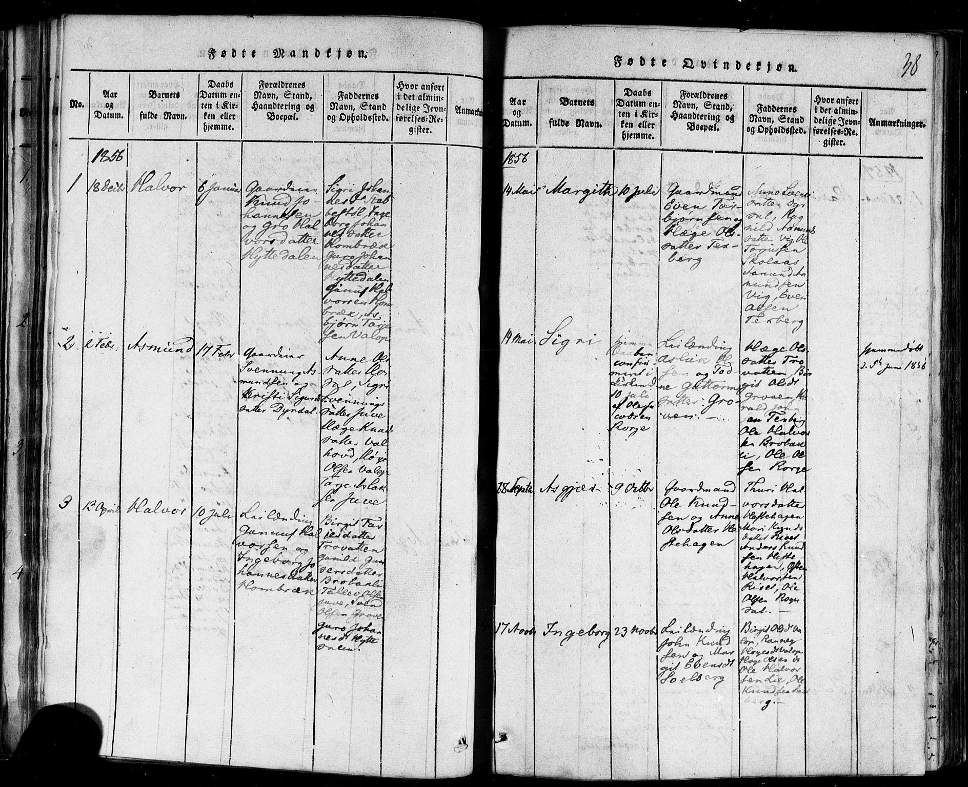 SAKO, Rauland kirkebøker, F/Fa/L0002: Ministerialbok nr. 2, 1815-1860, s. 38