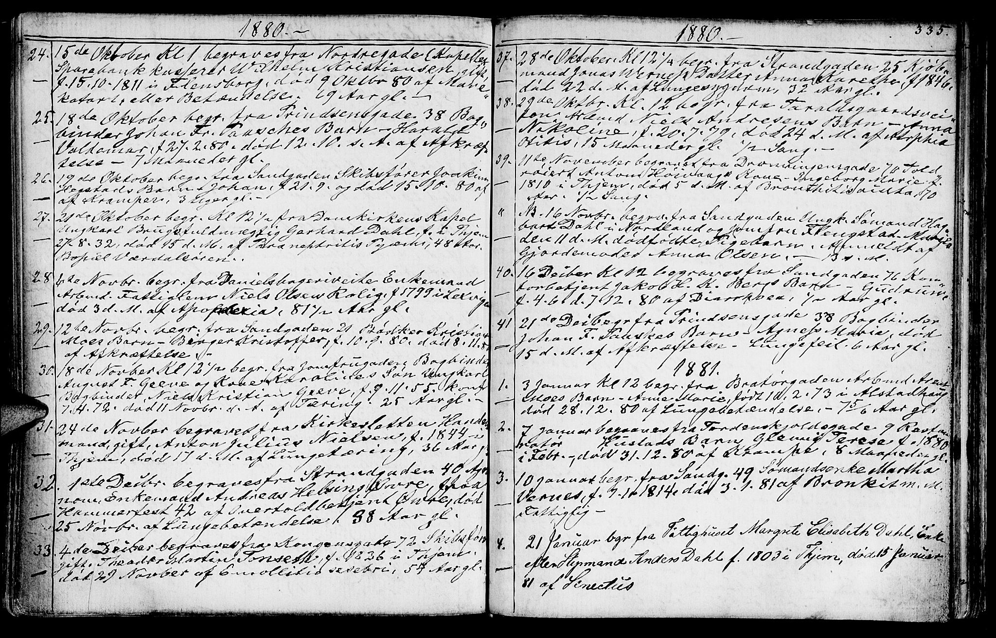 SAT, Ministerialprotokoller, klokkerbøker og fødselsregistre - Sør-Trøndelag, 602/L0142: Klokkerbok nr. 602C10, 1872-1894, s. 335