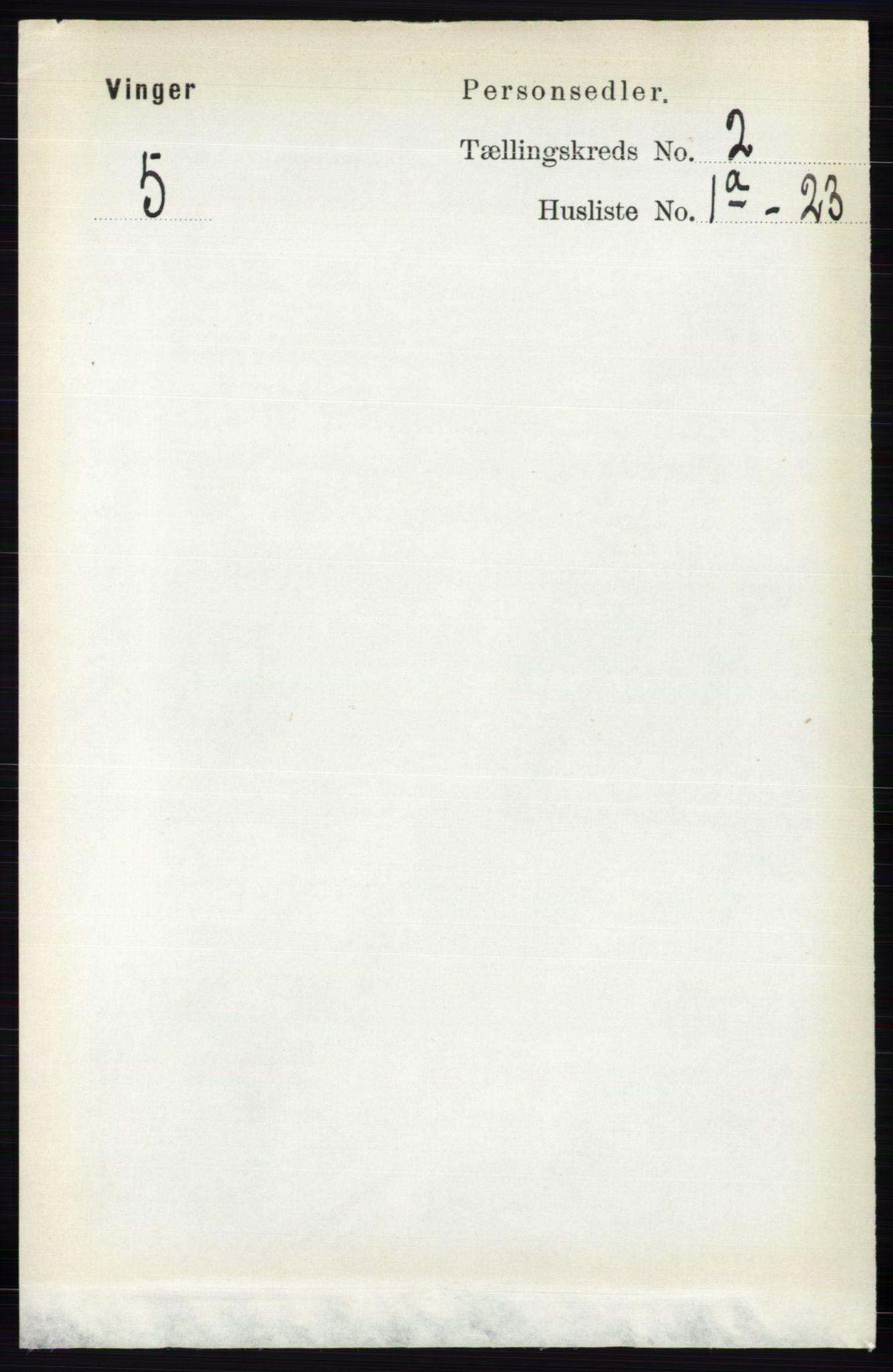RA, Folketelling 1891 for 0421 Vinger herred, 1891, s. 457