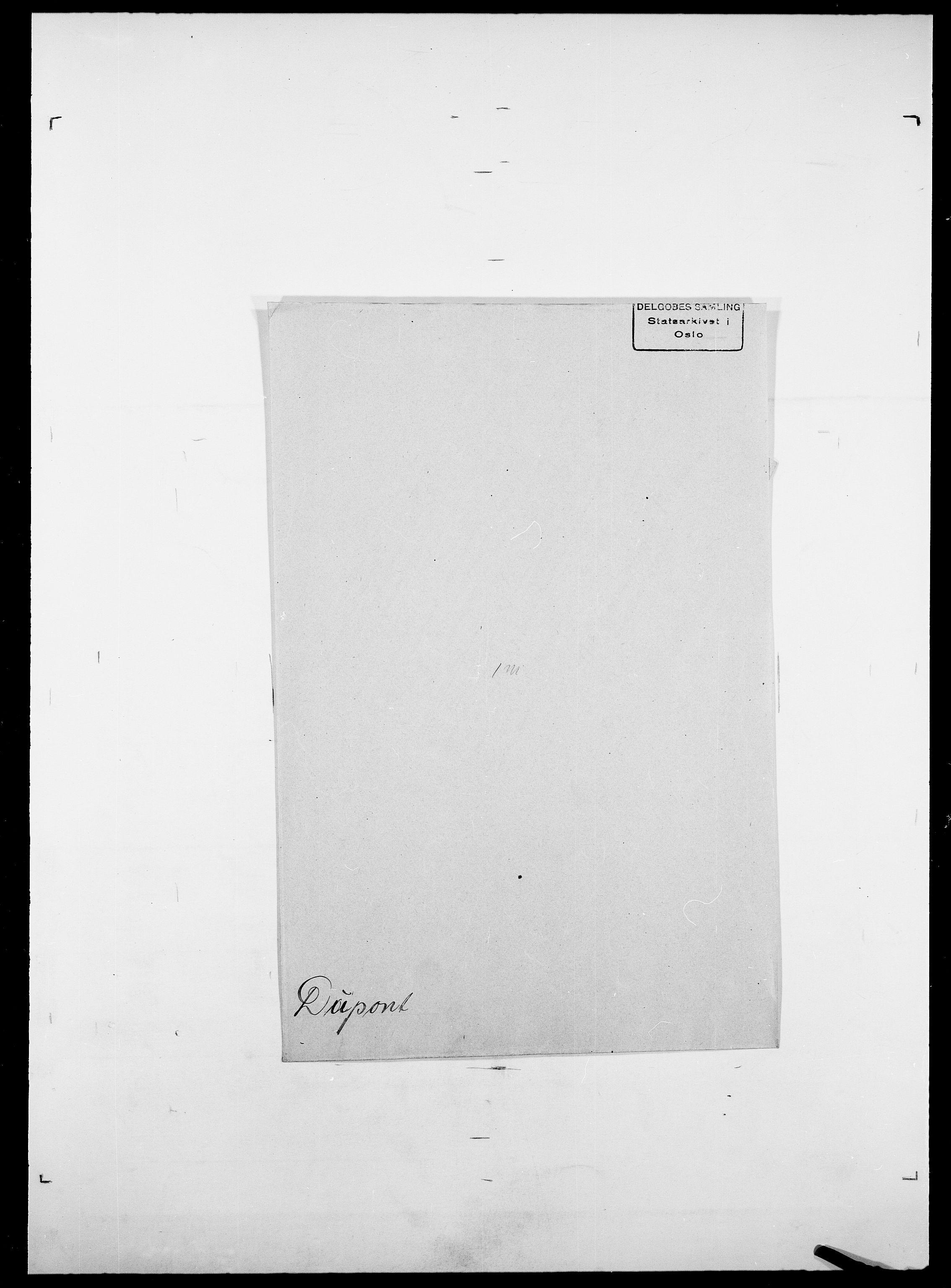SAO, Delgobe, Charles Antoine - samling, D/Da/L0009: Dahl - v. Düren, s. 847