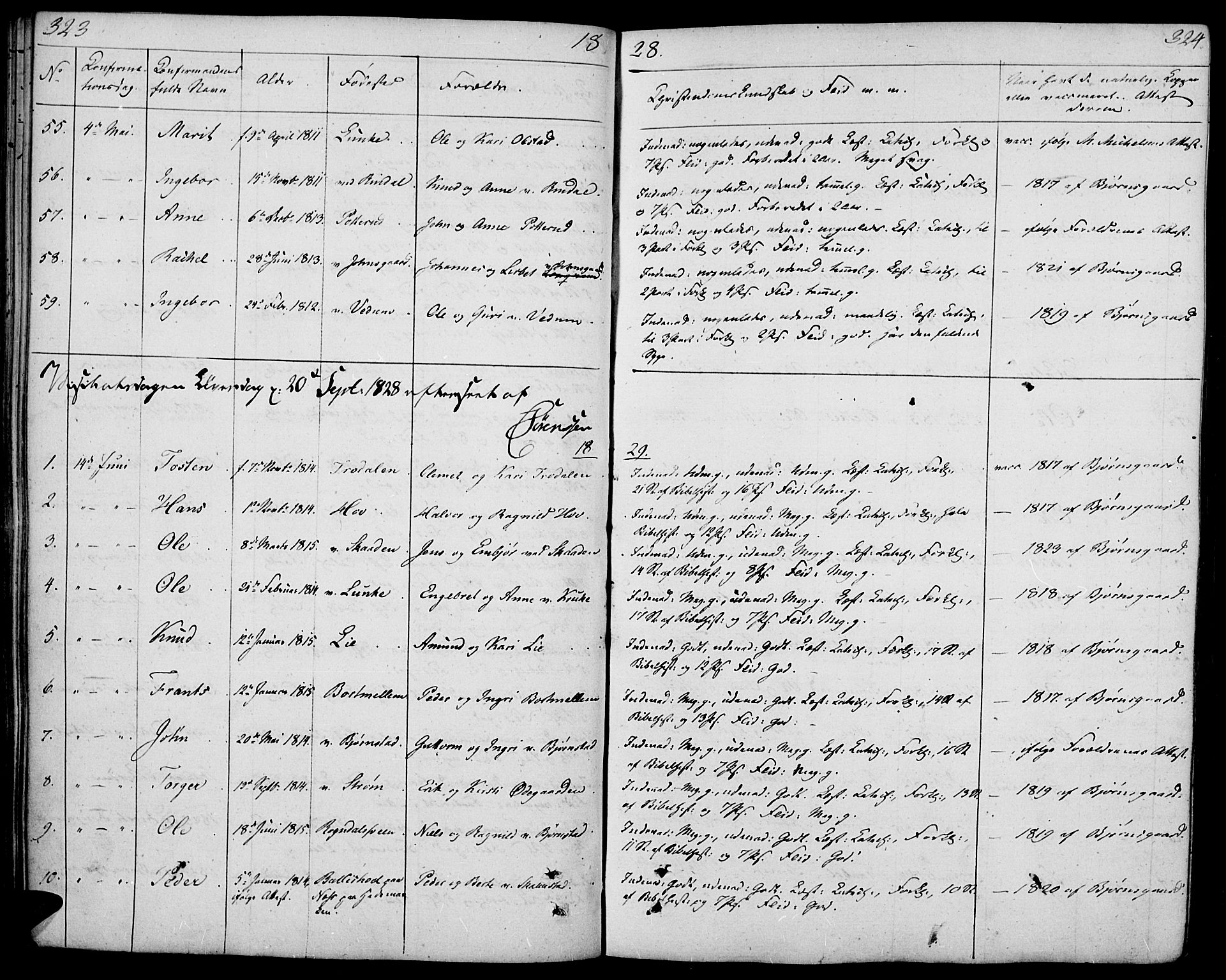 SAH, Øyer prestekontor, Ministerialbok nr. 4, 1824-1841, s. 323-324