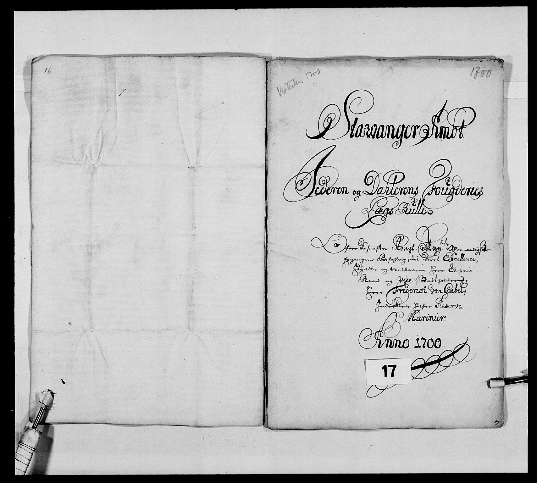 RA, Kommanderende general (KG I) med Det norske krigsdirektorium, E/Ea/L0473: Marineregimentet, 1664-1700, s. 225
