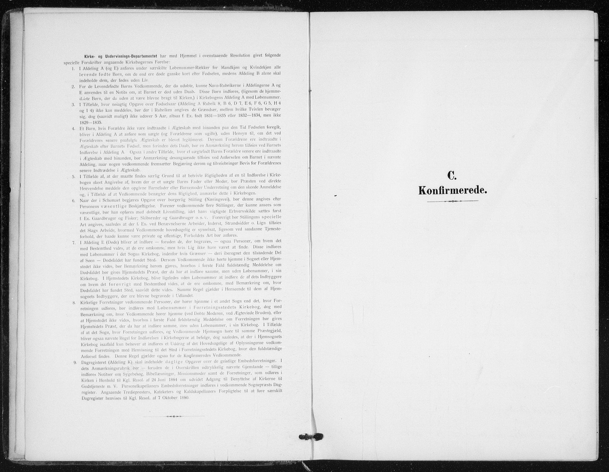 SAO, Kampen prestekontor Kirkebøker, F/Fa/L0011: Ministerialbok nr. I 11, 1907-1917