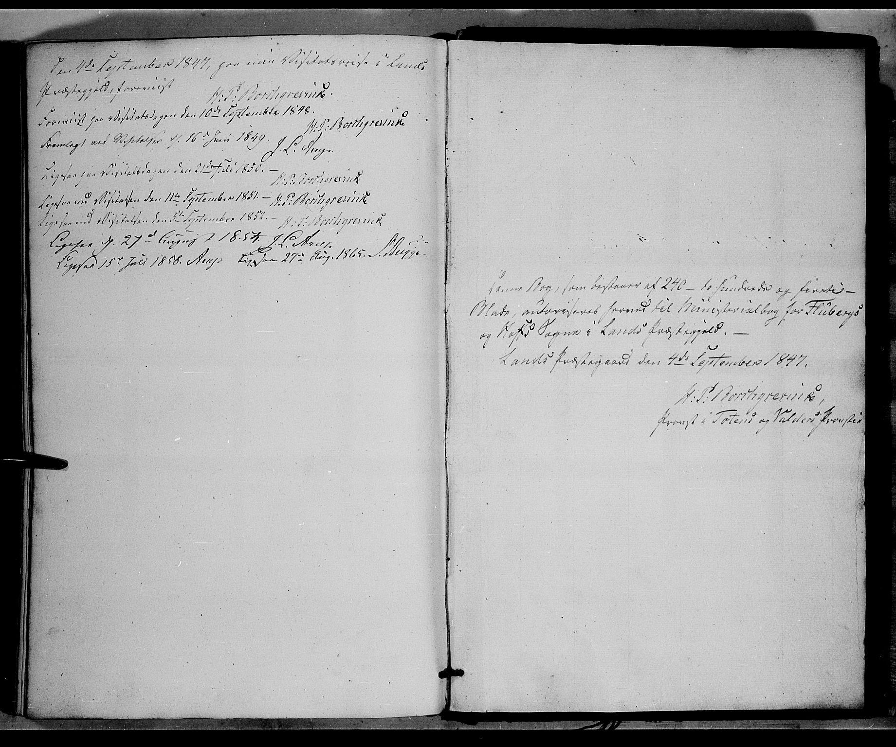 SAH, Land prestekontor, Ministerialbok nr. 9, 1847-1859