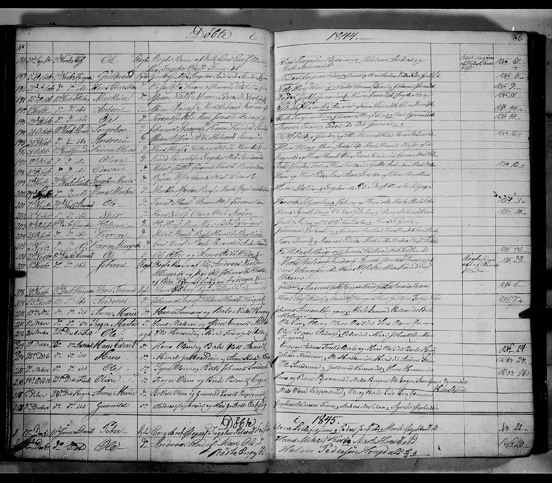 SAH, Land prestekontor, Klokkerbok nr. 2, 1833-1849, s. 66