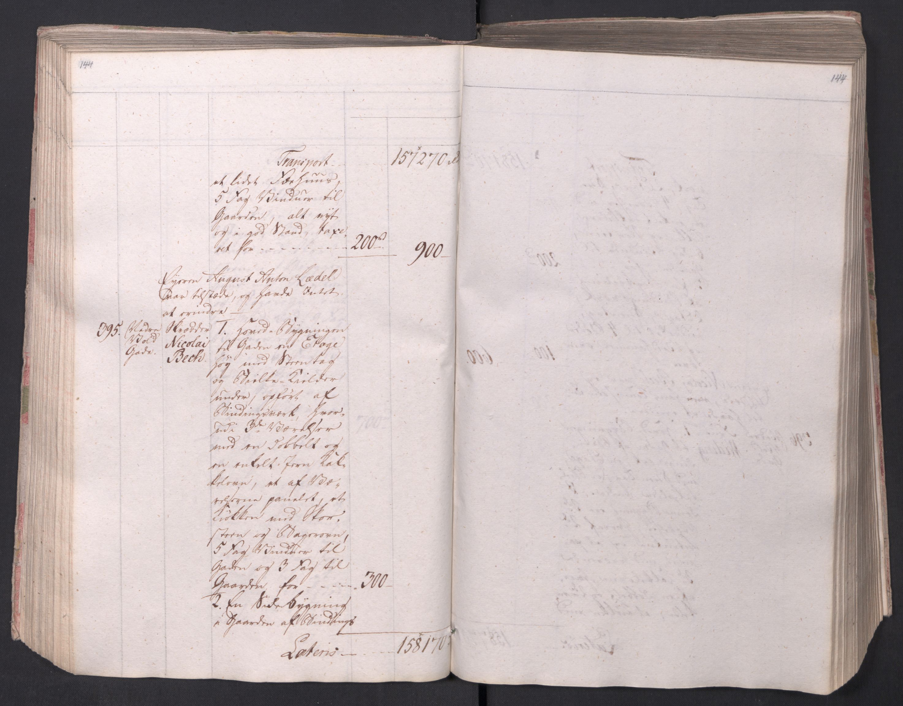 SAO, Kristiania stiftamt, I/Ia/L0015: Branntakster, 1797, s. 144