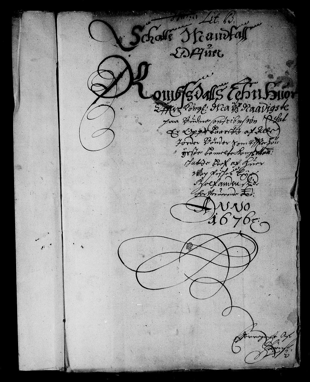 RA, Rentekammeret inntil 1814, Reviderte regnskaper, Stiftamtstueregnskaper, Trondheim stiftamt og Nordland amt, R/Rd/L0043: Trondheim stiftamt, 1676