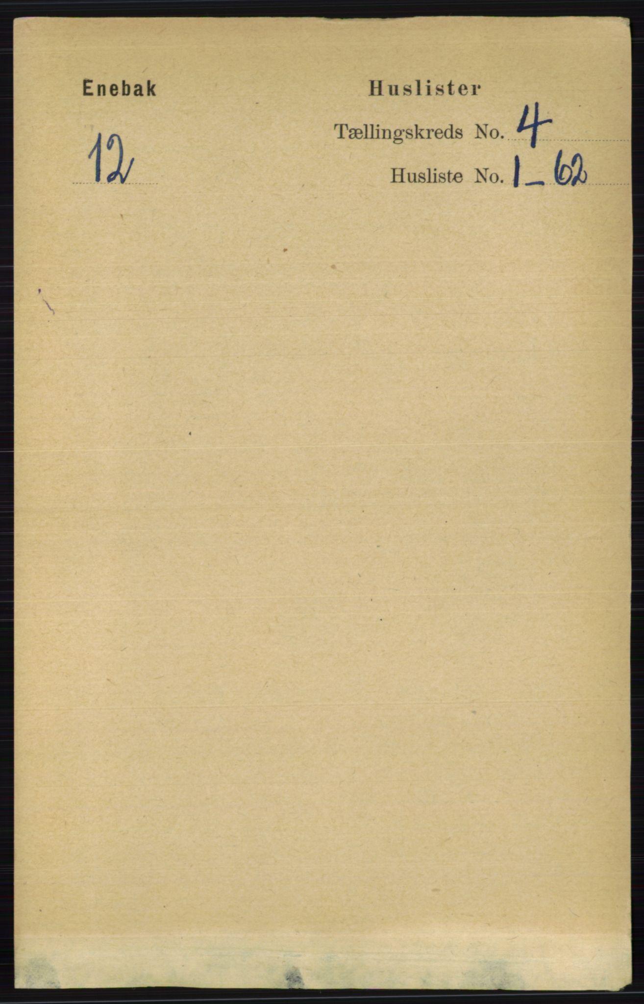 RA, Folketelling 1891 for 0229 Enebakk herred, 1891, s. 1410