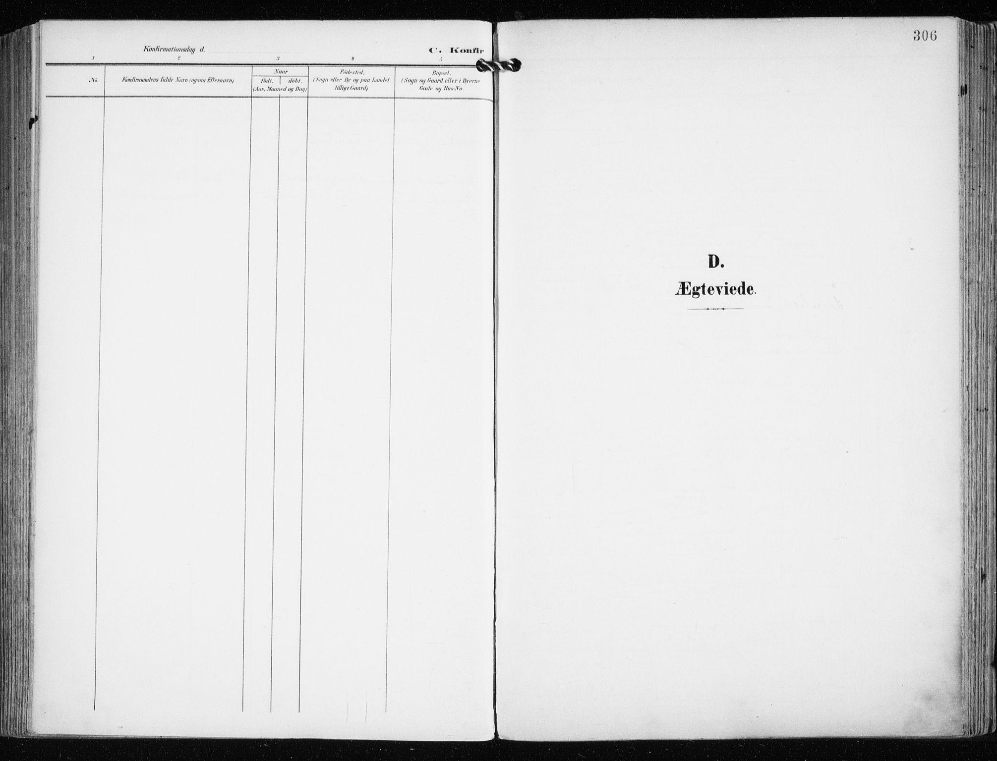 SATØ, Tromsø sokneprestkontor/stiftsprosti/domprosti, G/Ga/L0016kirke: Ministerialbok nr. 16, 1899-1906, s. 306