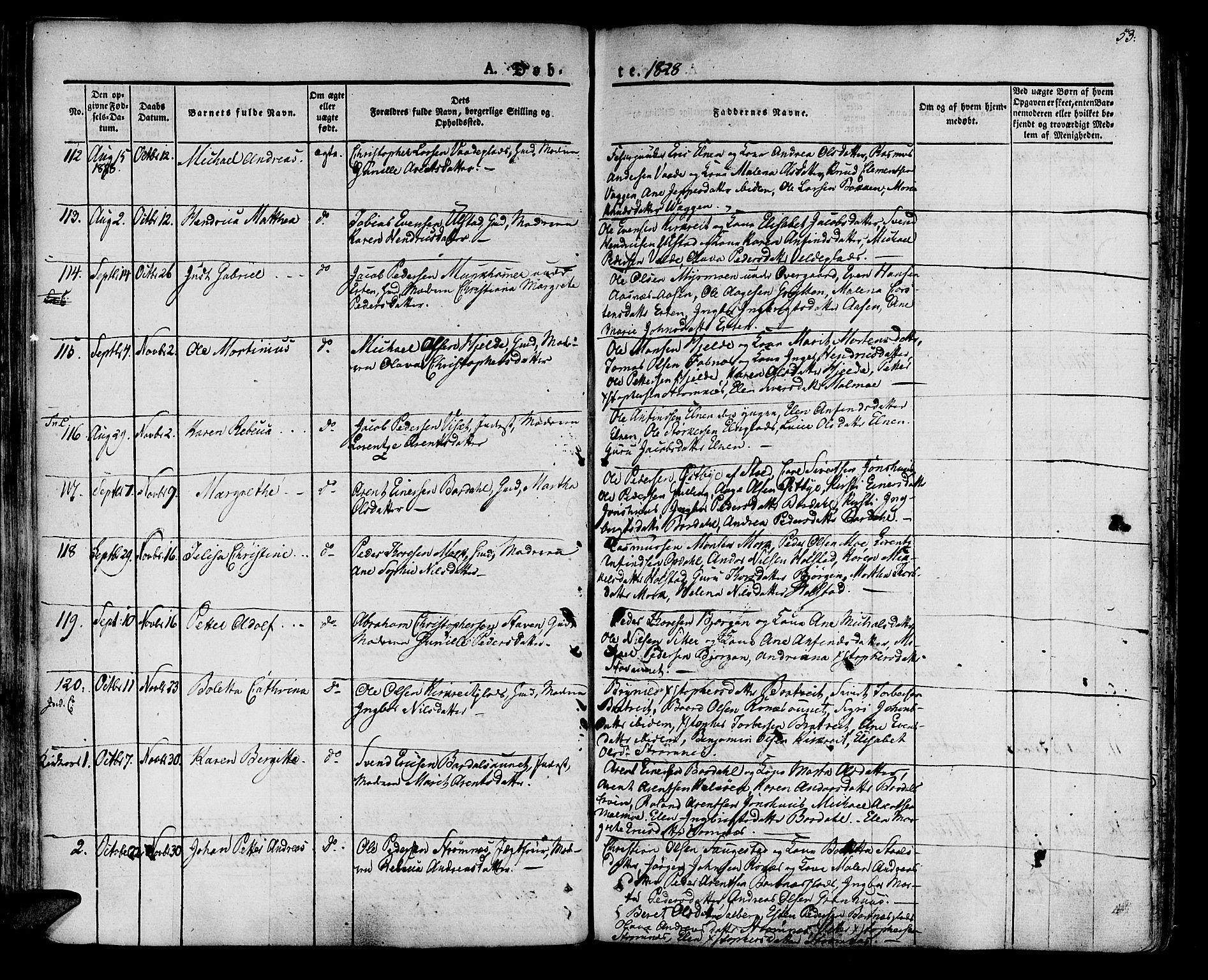 SAT, Ministerialprotokoller, klokkerbøker og fødselsregistre - Nord-Trøndelag, 741/L0390: Ministerialbok nr. 741A04, 1822-1836, s. 53