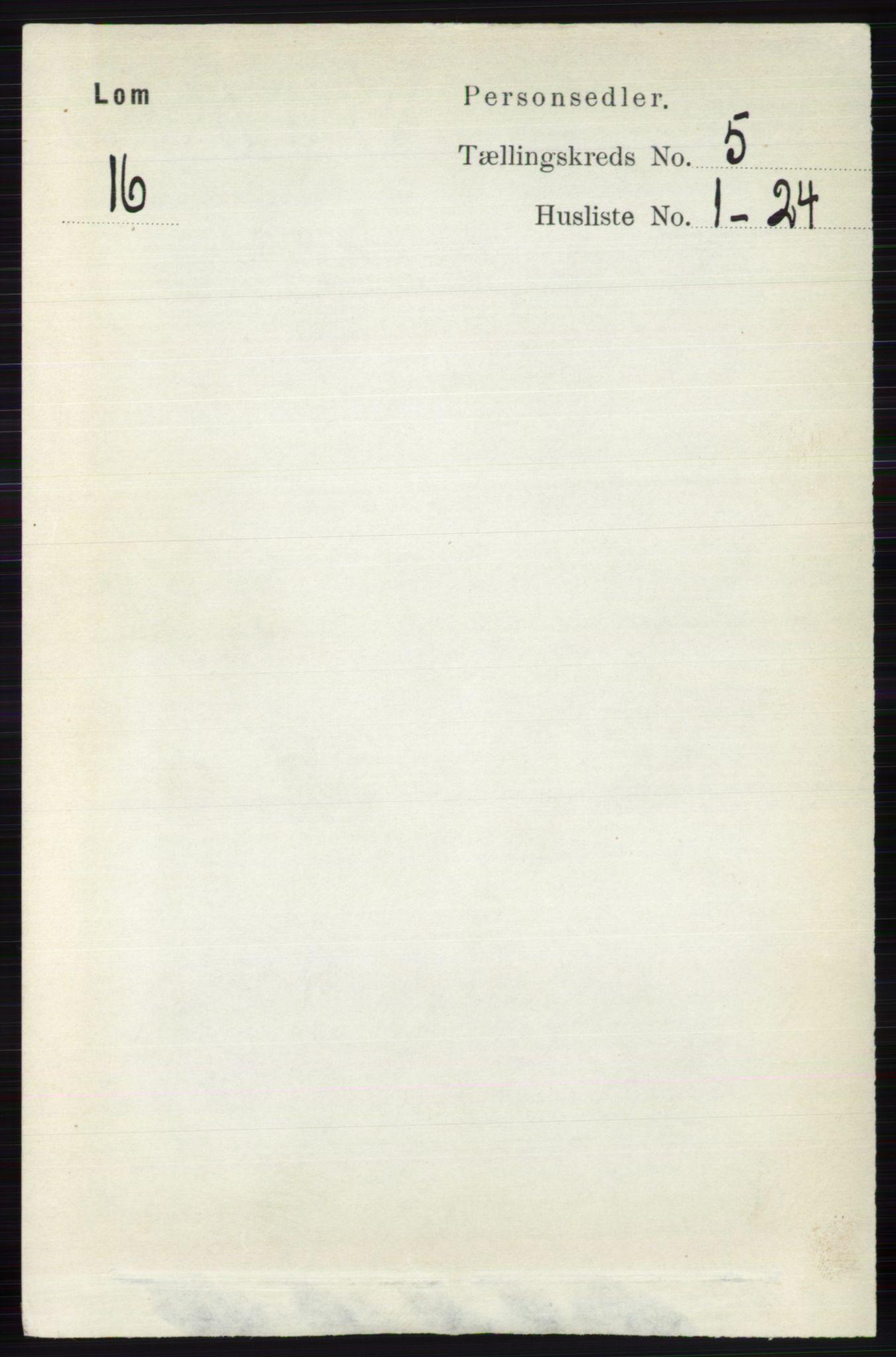 RA, Folketelling 1891 for 0514 Lom herred, 1891, s. 1850
