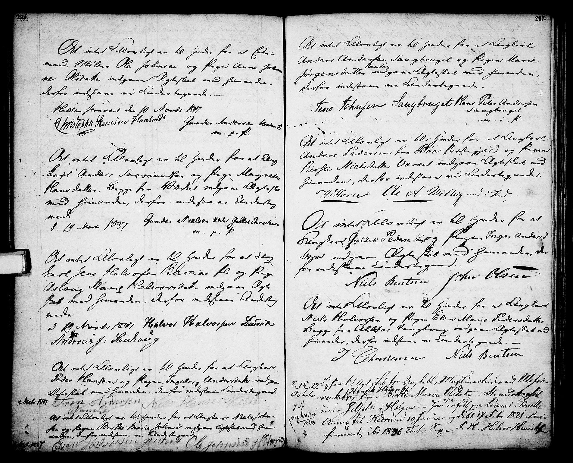 SAKO, Holla kirkebøker, F/Fa/L0002: Ministerialbok nr. 2, 1779-1814, s. 226-227