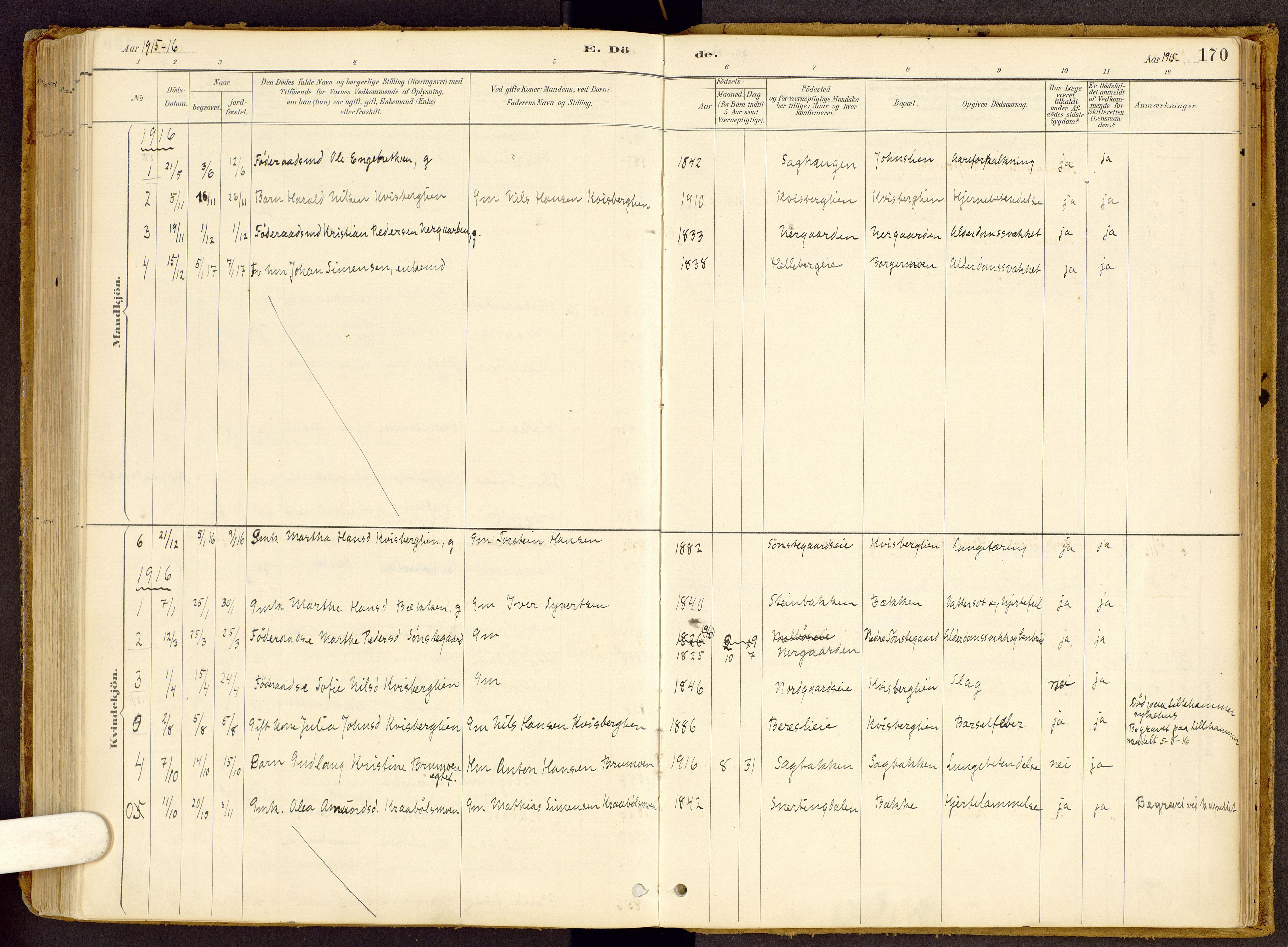 SAH, Vestre Gausdal prestekontor, Ministerialbok nr. 2, 1887-1918, s. 170