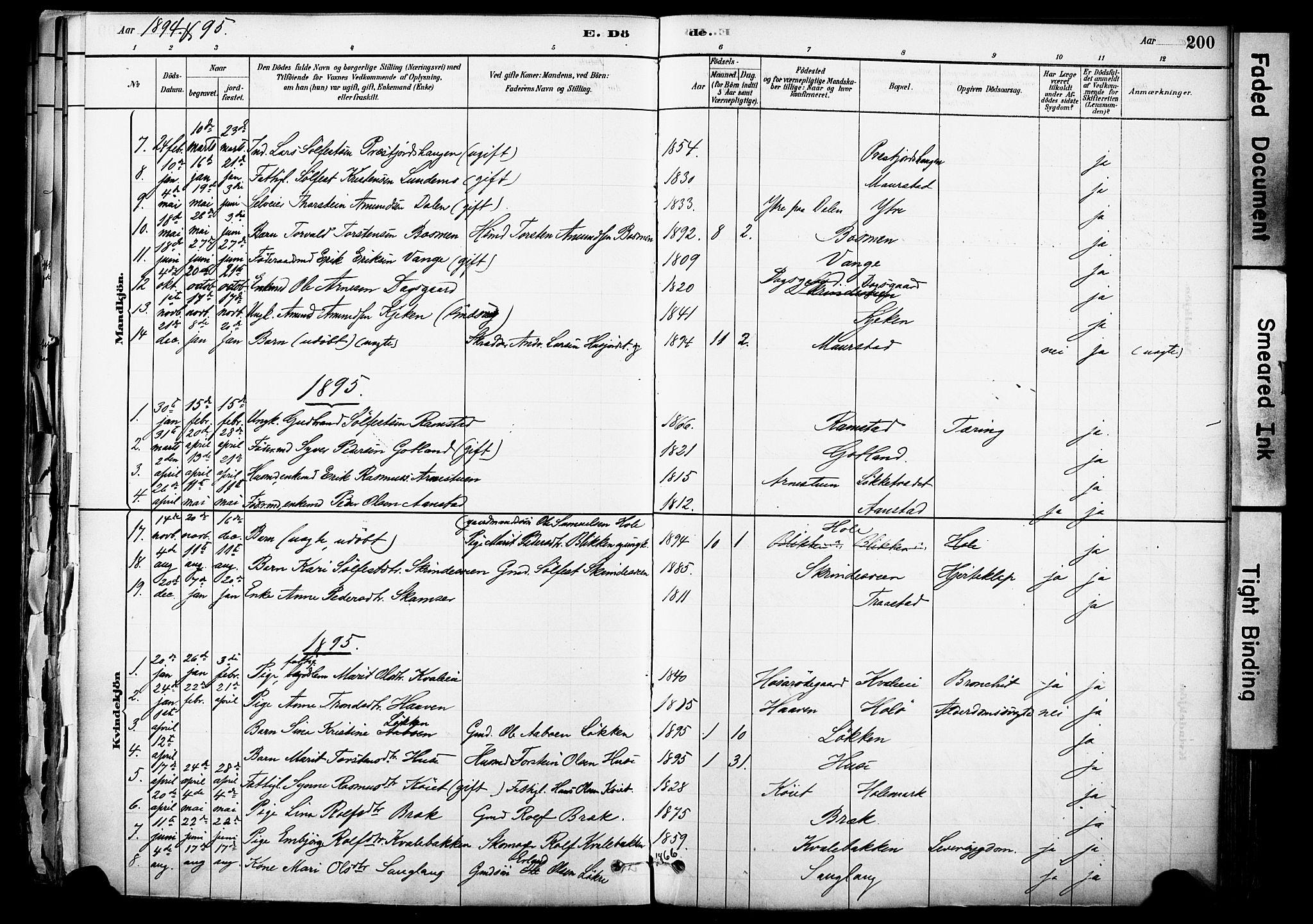 SAH, Skjåk prestekontor, Ministerialbok nr. 3, 1880-1907, s. 200