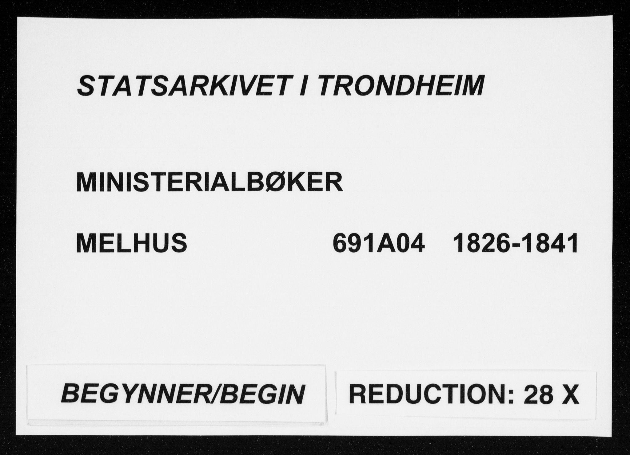 SAT, Ministerialprotokoller, klokkerbøker og fødselsregistre - Sør-Trøndelag, 691/L1069: Ministerialbok nr. 691A04, 1826-1841