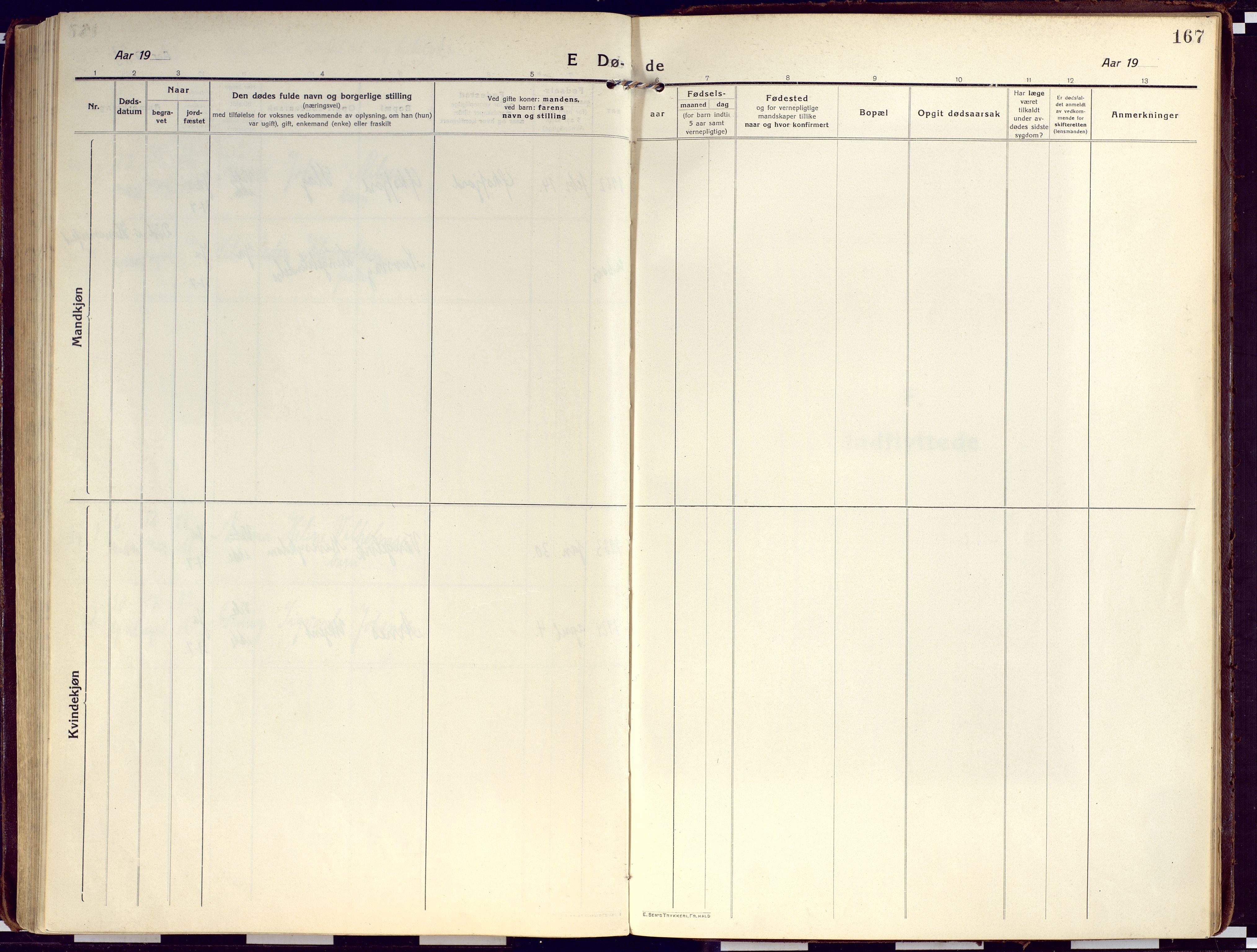 SATØ, Loppa sokneprestkontor, H/Ha/L0012kirke: Ministerialbok nr. 12, 1917-1932, s. 167