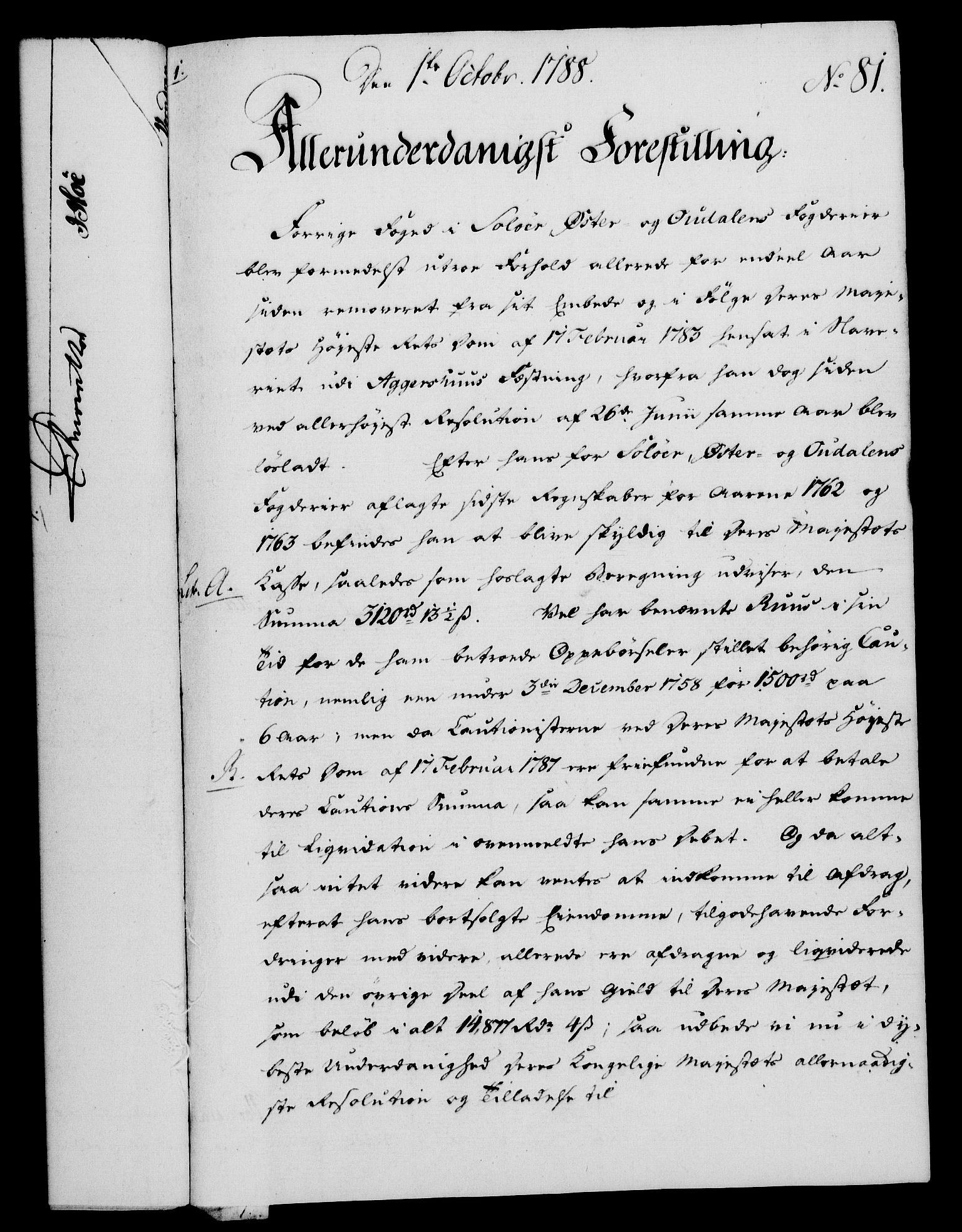 RA, Rentekammeret, Kammerkanselliet, G/Gf/Gfa/L0070: Norsk relasjons- og resolusjonsprotokoll (merket RK 52.70), 1788, s. 501