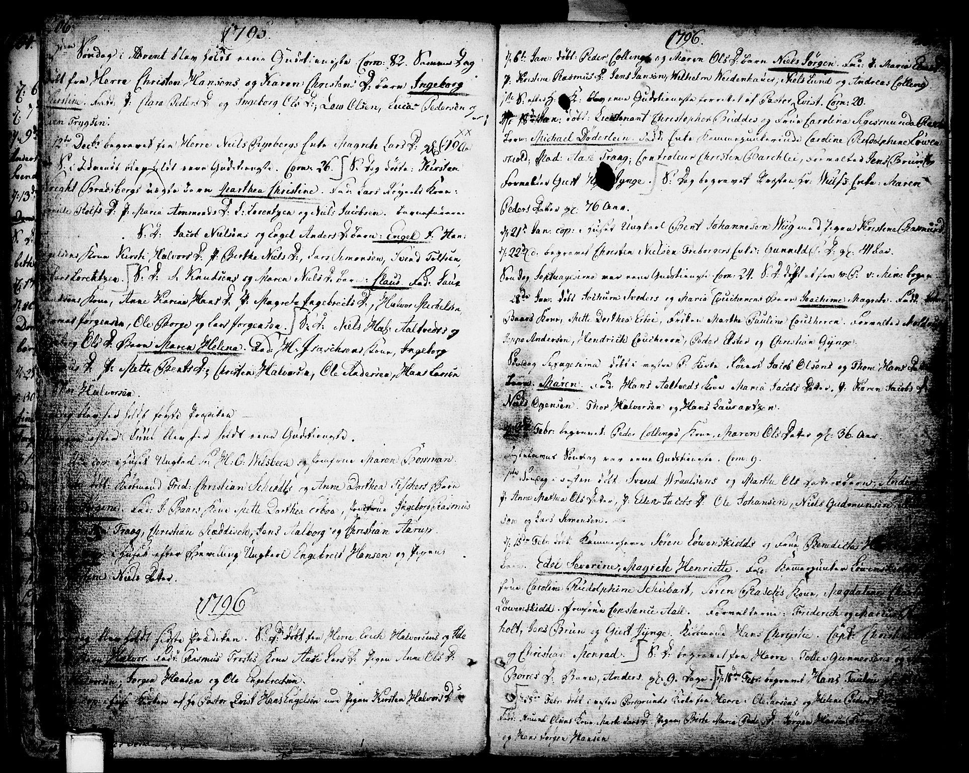 SAKO, Porsgrunn kirkebøker , F/Fa/L0002: Ministerialbok nr. 2, 1764-1814, s. 206-207