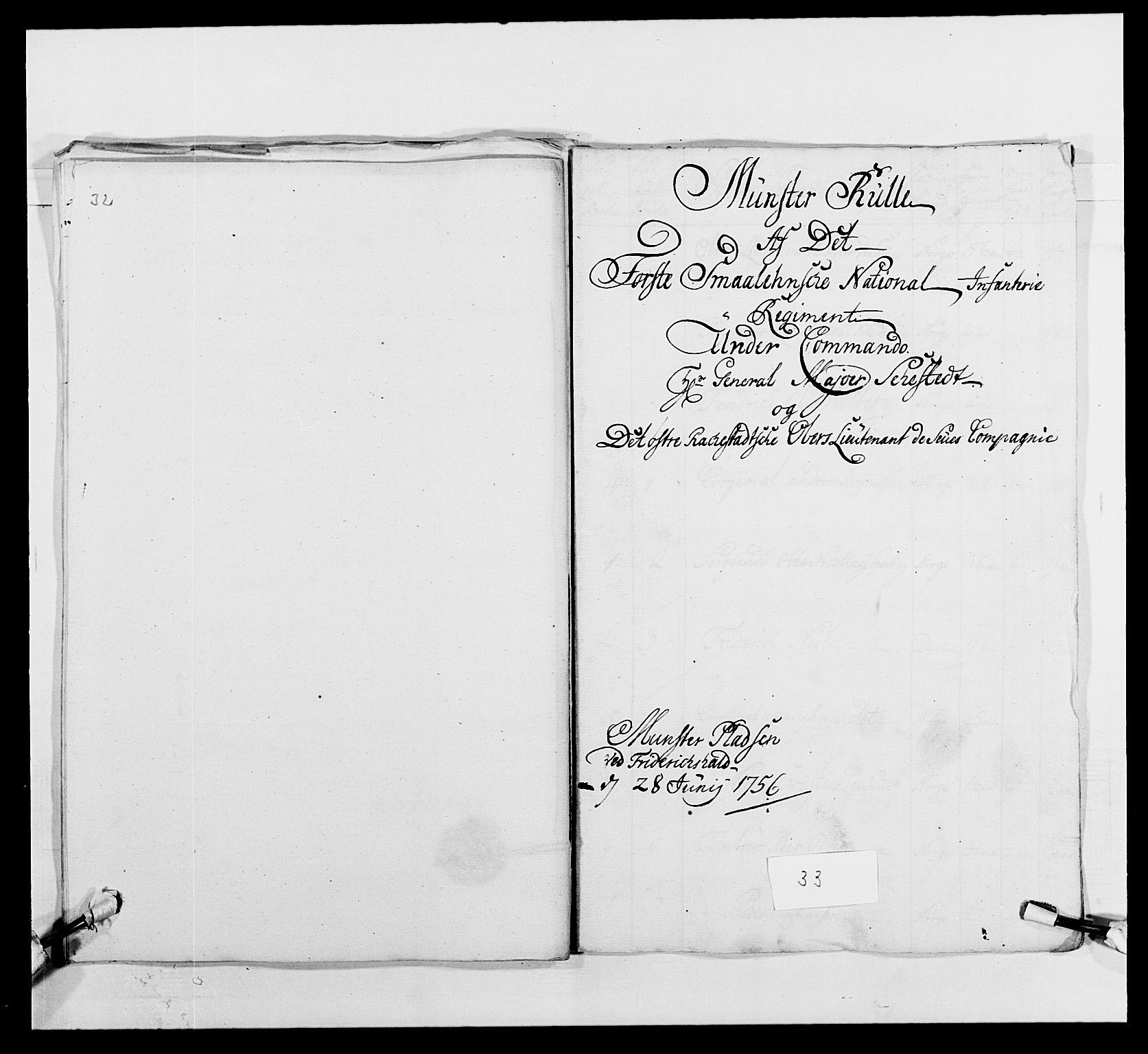RA, Kommanderende general (KG I) med Det norske krigsdirektorium, E/Ea/L0495: 1. Smålenske regiment, 1732-1763, s. 488