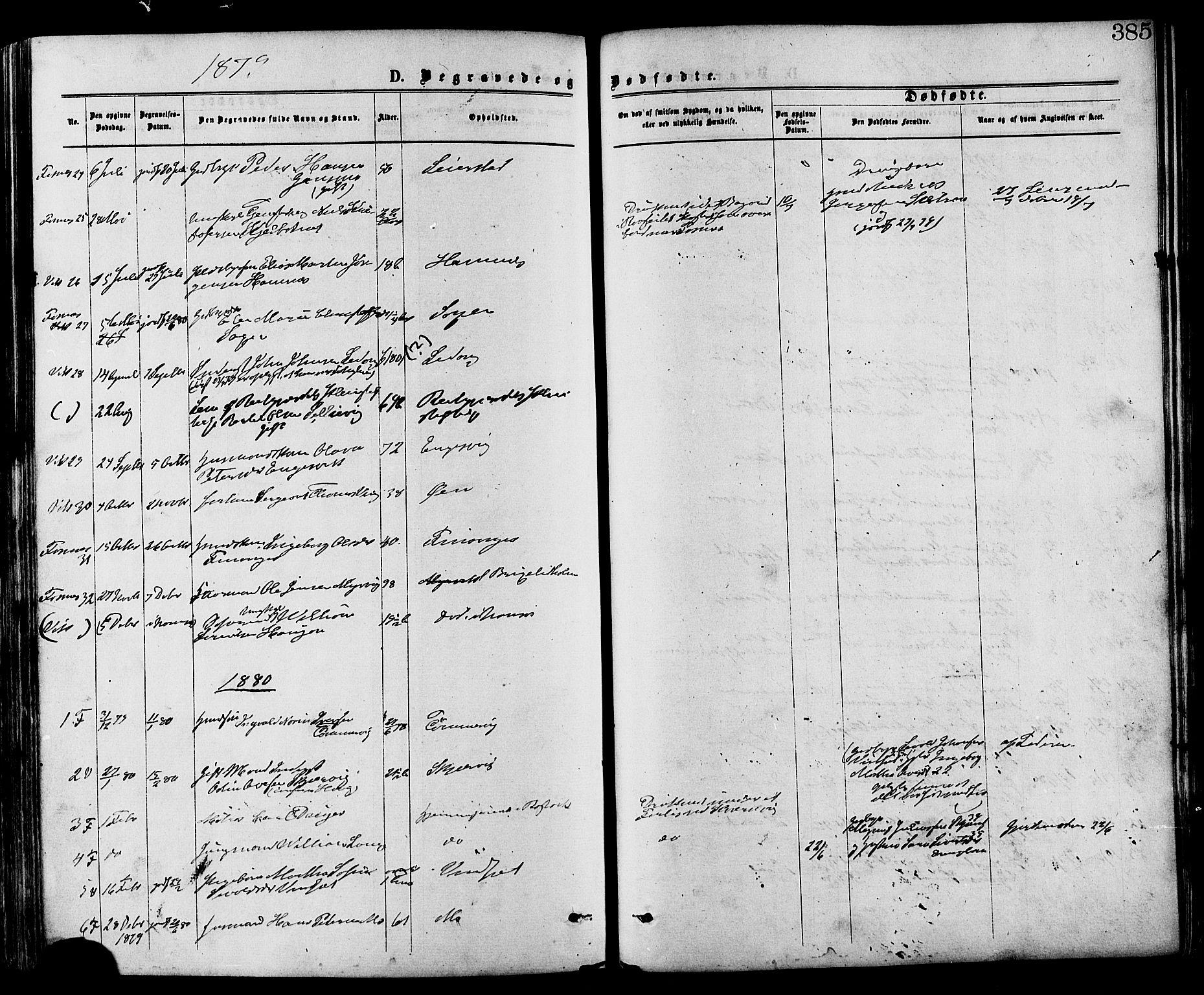 SAT, Ministerialprotokoller, klokkerbøker og fødselsregistre - Nord-Trøndelag, 773/L0616: Ministerialbok nr. 773A07, 1870-1887, s. 385