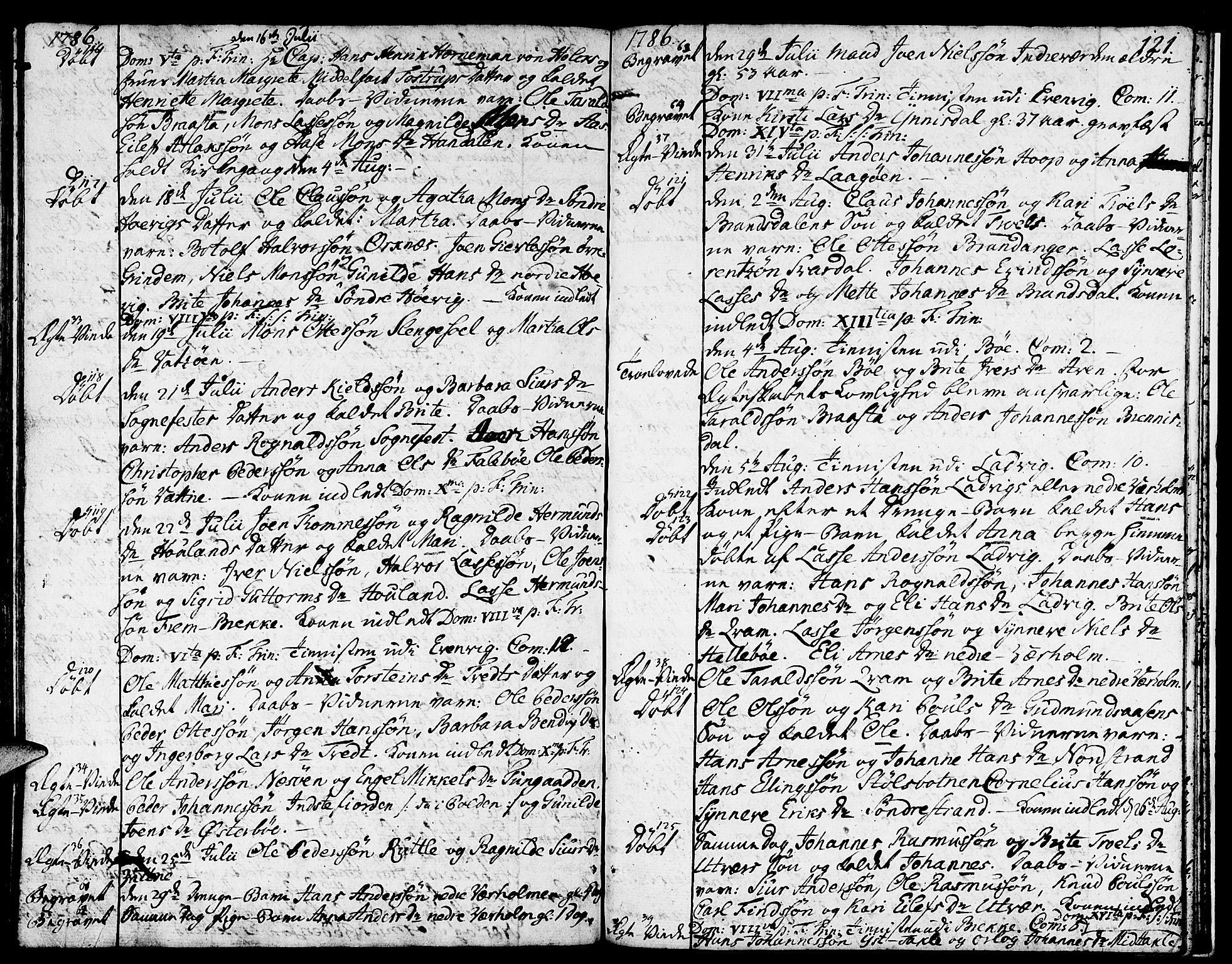 SAB, Gulen sokneprestembete, Ministerialbok nr. A 13, 1776-1787, s. 121