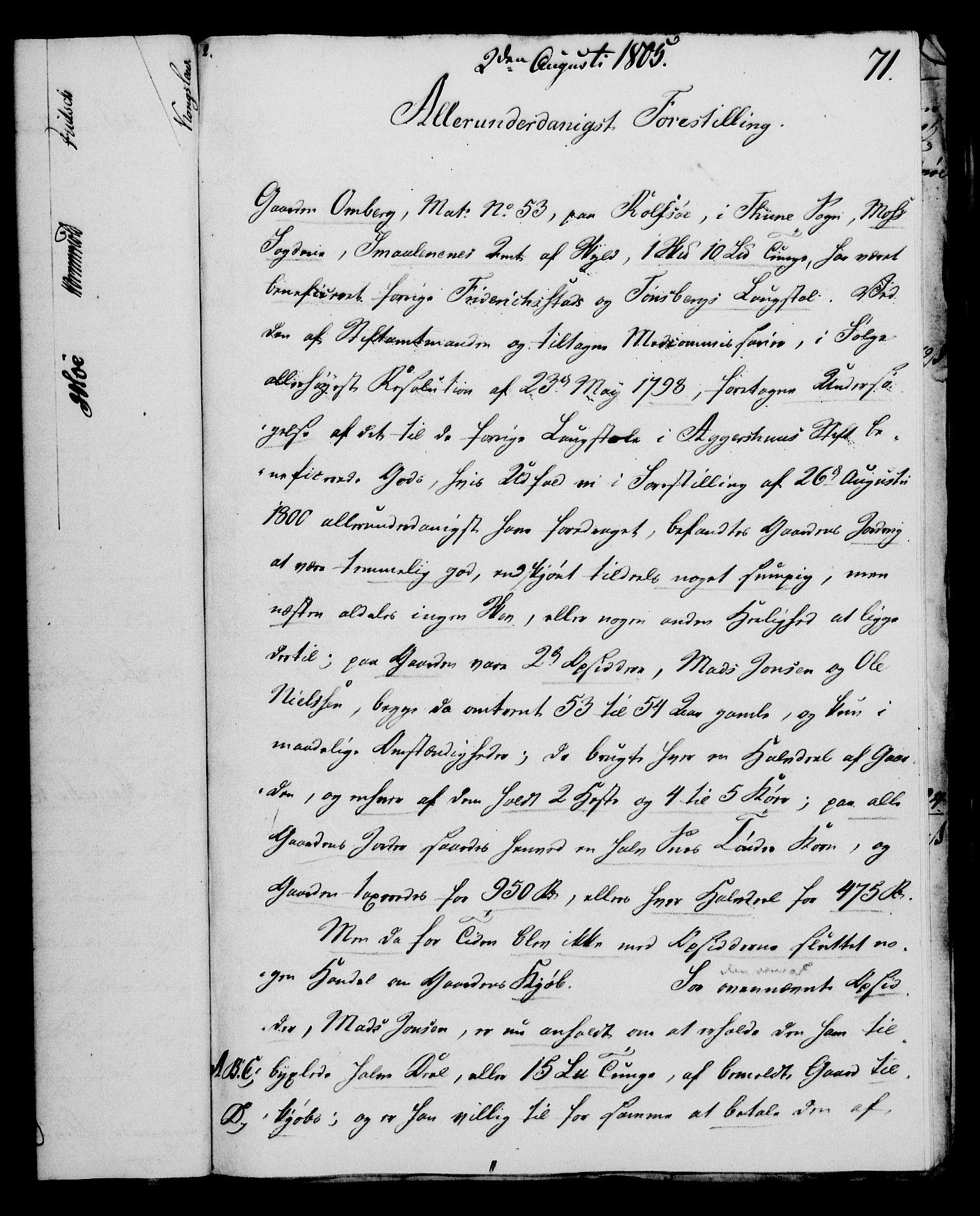 RA, Rentekammeret, Kammerkanselliet, G/Gf/Gfa/L0087: Norsk relasjons- og resolusjonsprotokoll (merket RK 52.87), 1805, s. 401