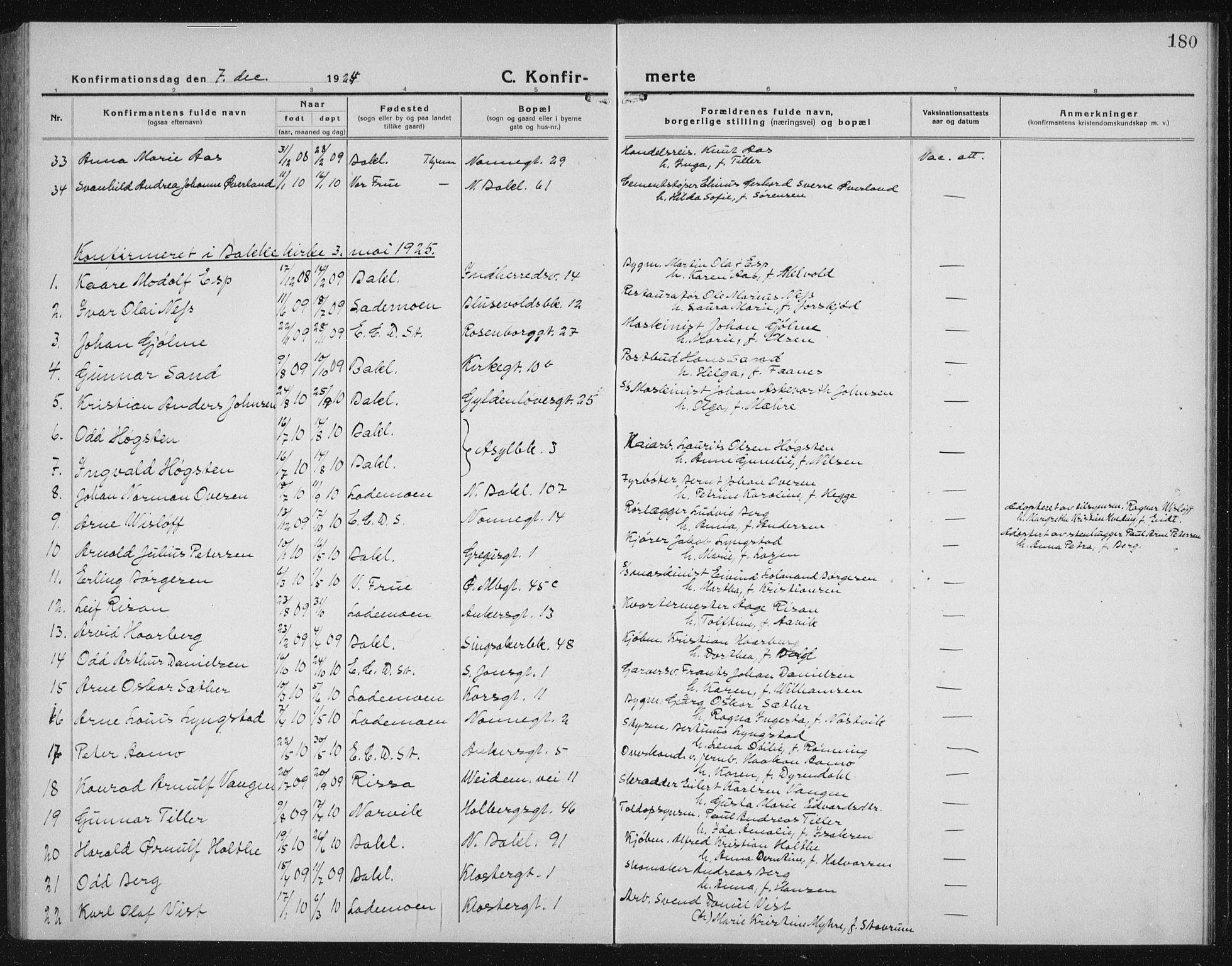 SAT, Ministerialprotokoller, klokkerbøker og fødselsregistre - Sør-Trøndelag, 604/L0227: Klokkerbok nr. 604C10, 1923-1942, s. 180