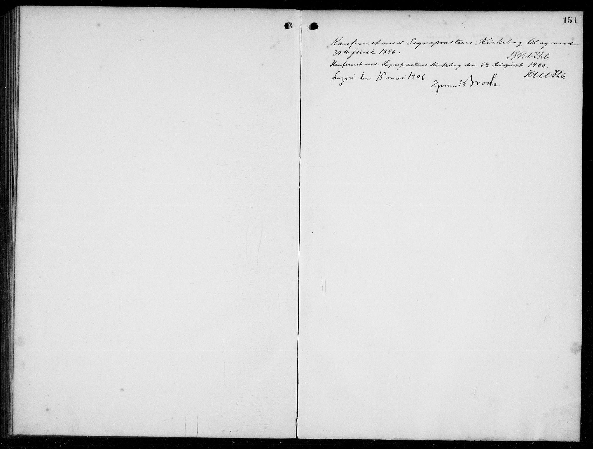 SAB, Hyllestad Sokneprestembete, Klokkerbok nr. C 3, 1894-1913, s. 151
