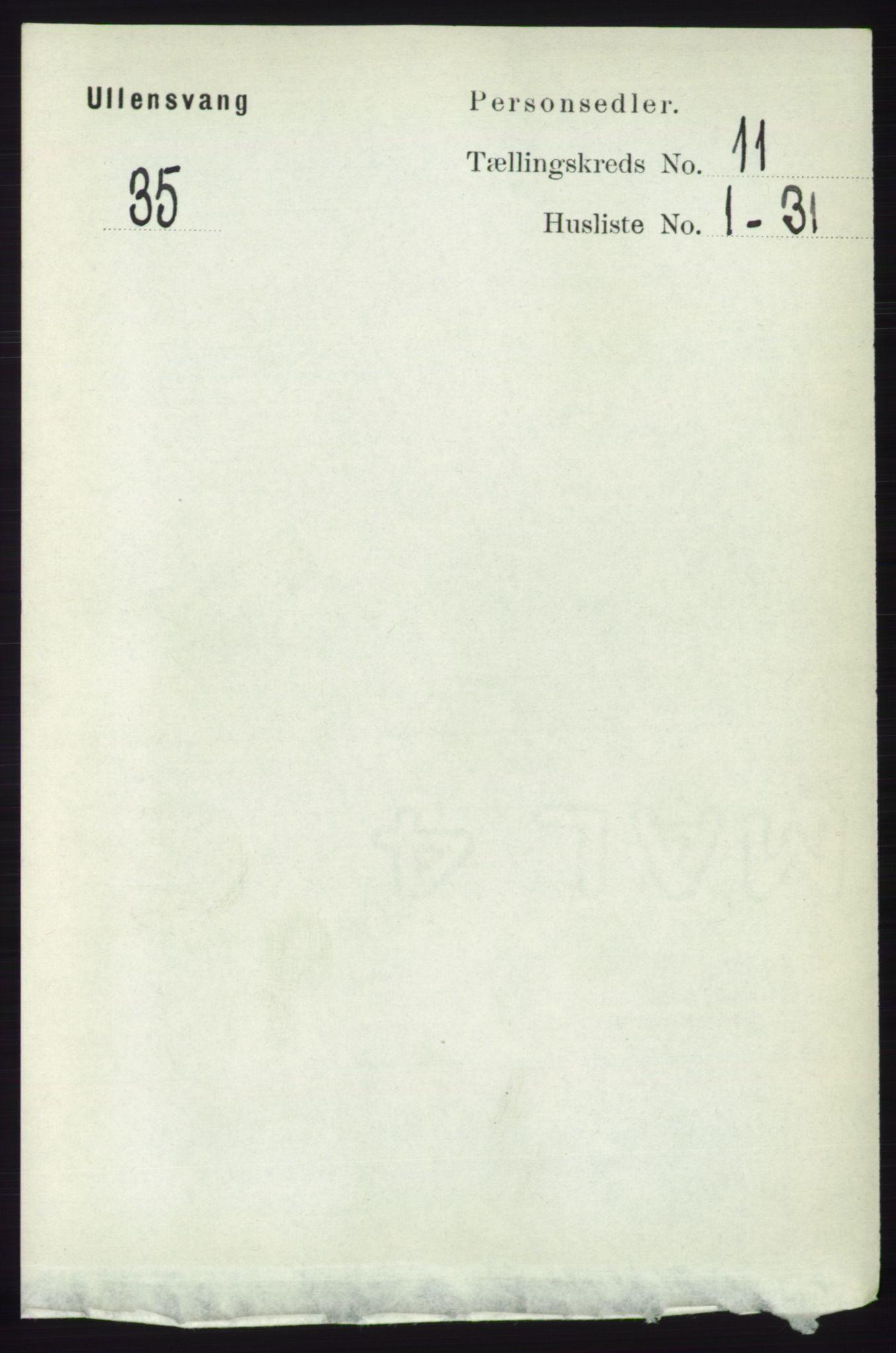 RA, Folketelling 1891 for 1230 Ullensvang herred, 1891, s. 4262
