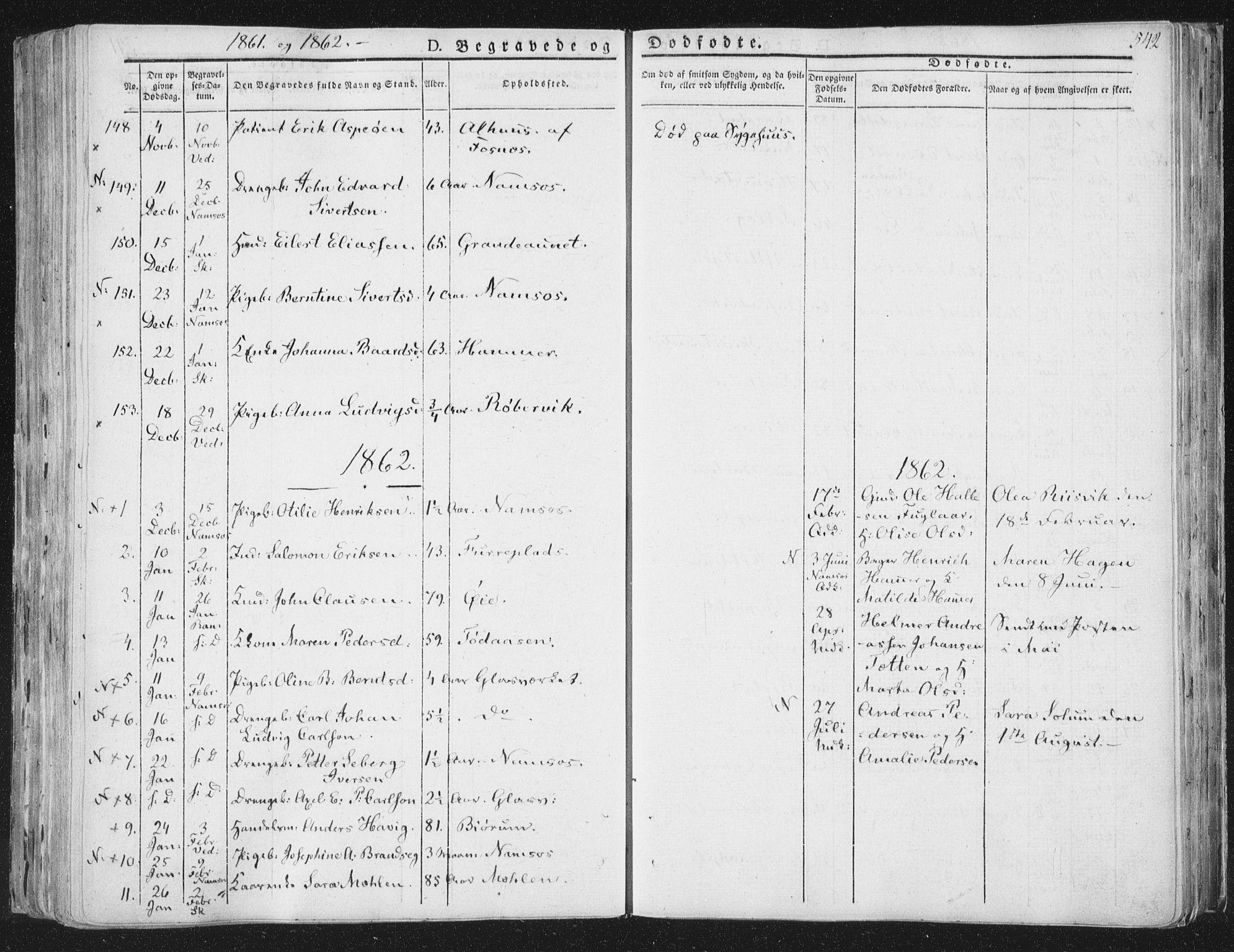 SAT, Ministerialprotokoller, klokkerbøker og fødselsregistre - Nord-Trøndelag, 764/L0552: Ministerialbok nr. 764A07b, 1824-1865, s. 542