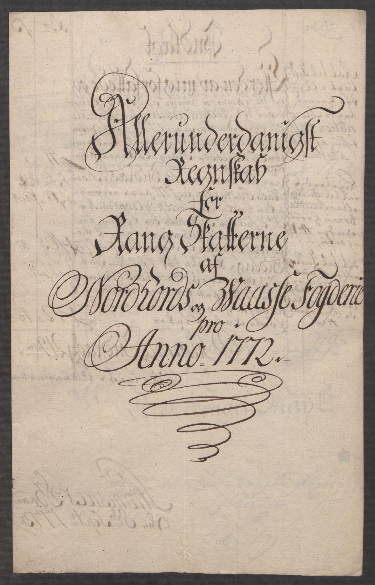 RA, Rentekammeret inntil 1814, Reviderte regnskaper, Fogderegnskap, R51/L3303: Ekstraskatten Nordhordland og Voss, 1762-1772, s. 698