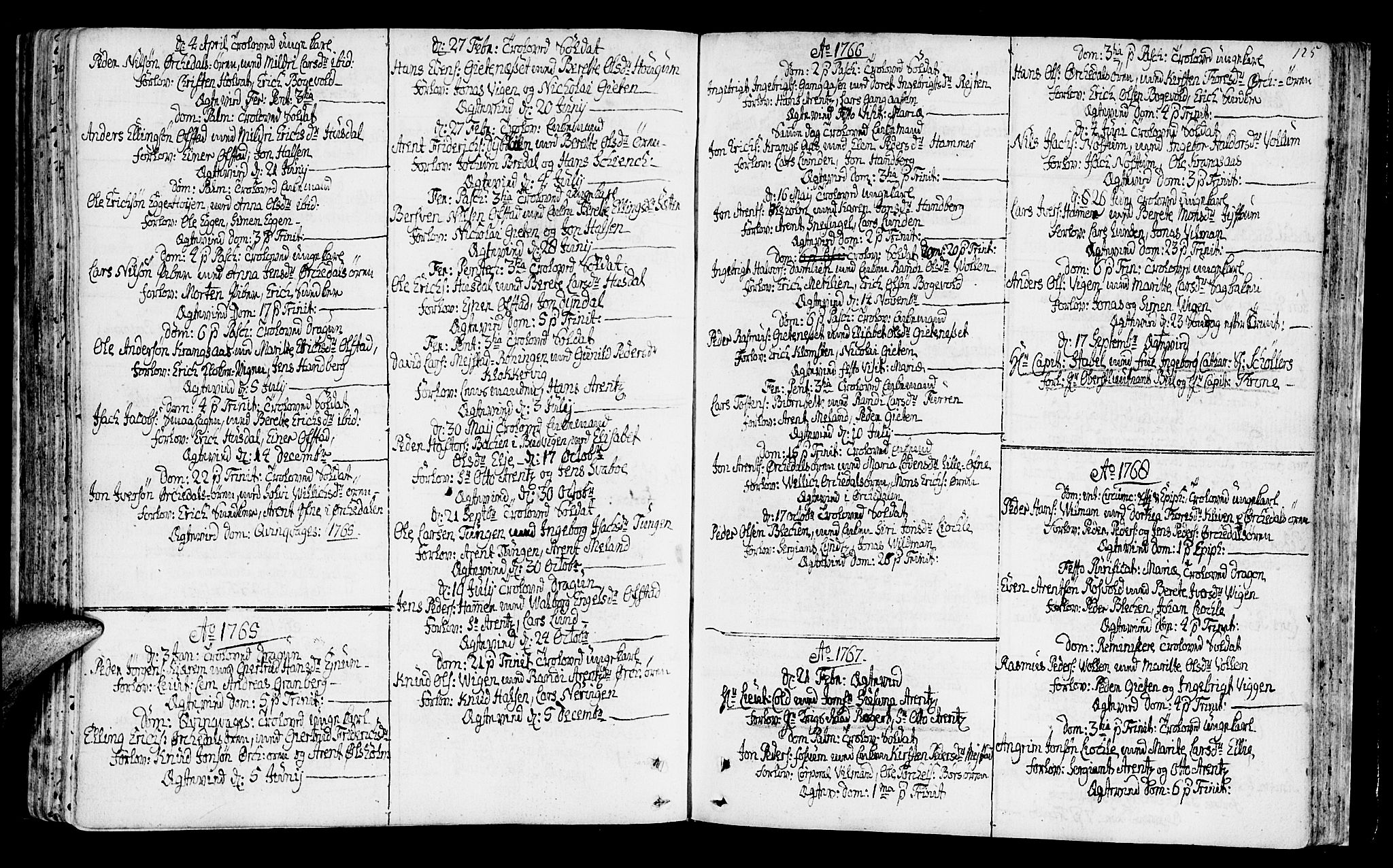 SAT, Ministerialprotokoller, klokkerbøker og fødselsregistre - Sør-Trøndelag, 665/L0768: Ministerialbok nr. 665A03, 1754-1803, s. 125