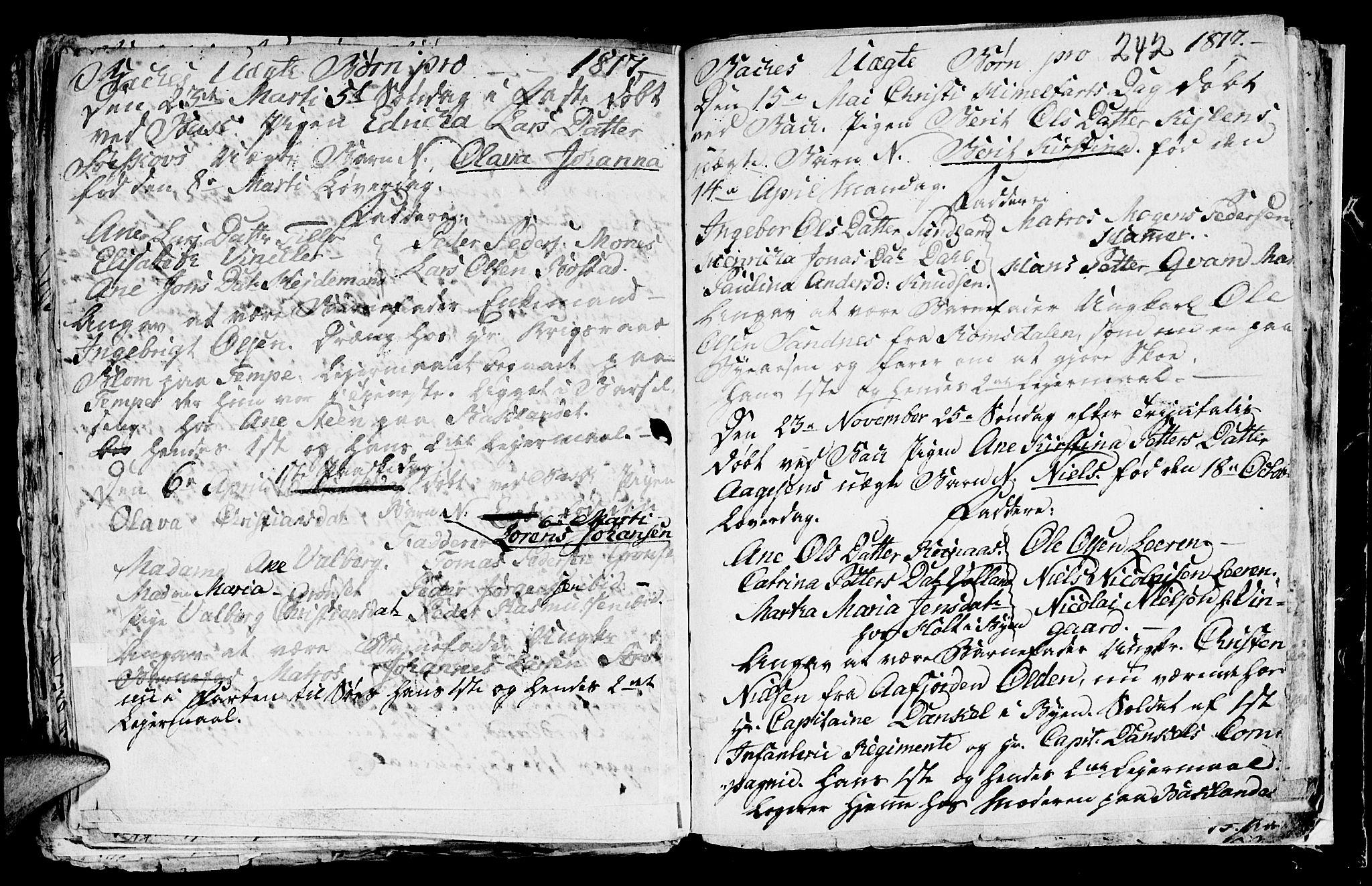 SAT, Ministerialprotokoller, klokkerbøker og fødselsregistre - Sør-Trøndelag, 604/L0218: Klokkerbok nr. 604C01, 1754-1819, s. 242