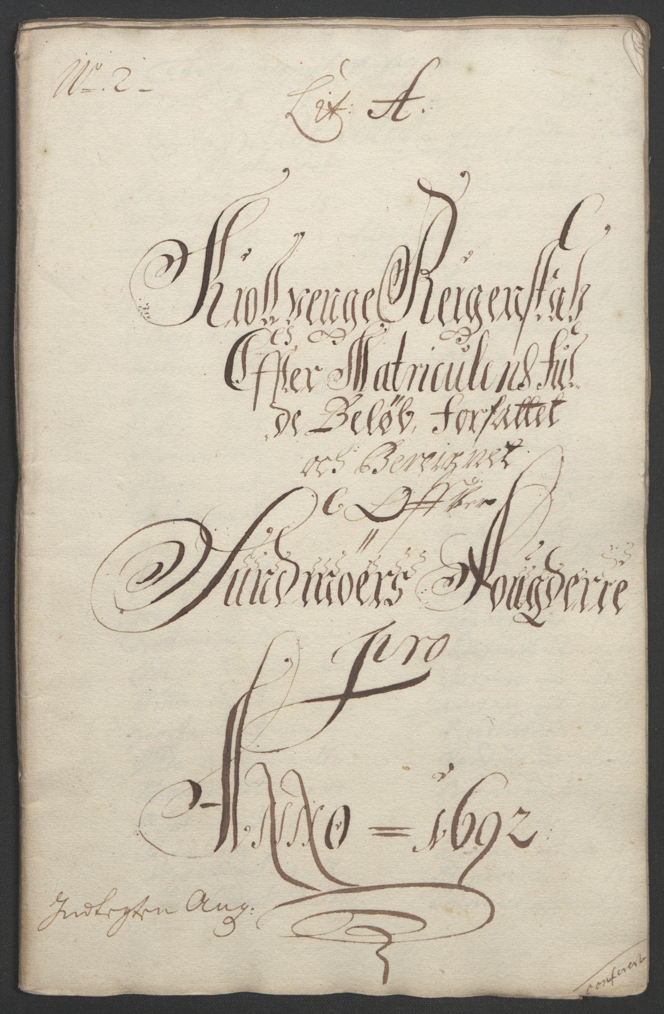 RA, Rentekammeret inntil 1814, Reviderte regnskaper, Fogderegnskap, R54/L3554: Fogderegnskap Sunnmøre, 1691-1693, s. 141
