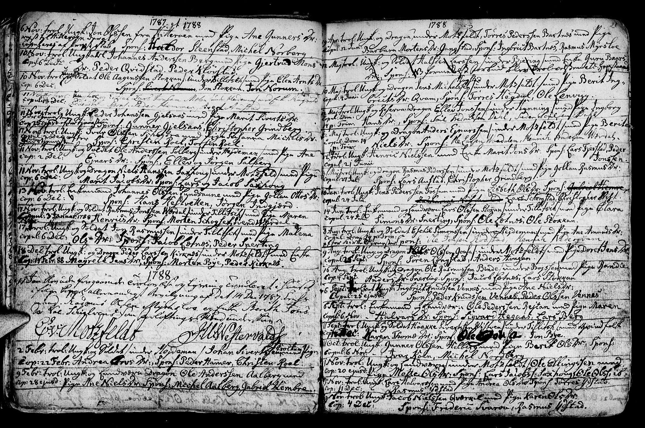 SAT, Ministerialprotokoller, klokkerbøker og fødselsregistre - Nord-Trøndelag, 730/L0273: Ministerialbok nr. 730A02, 1762-1802, s. 21