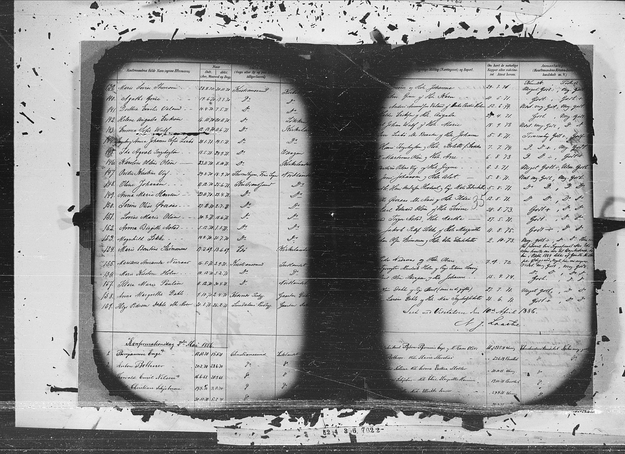 SAT, Ministerialprotokoller, klokkerbøker og fødselsregistre - Møre og Romsdal, 572/L0852: Ministerialbok nr. 572A15, 1880-1900, s. 35