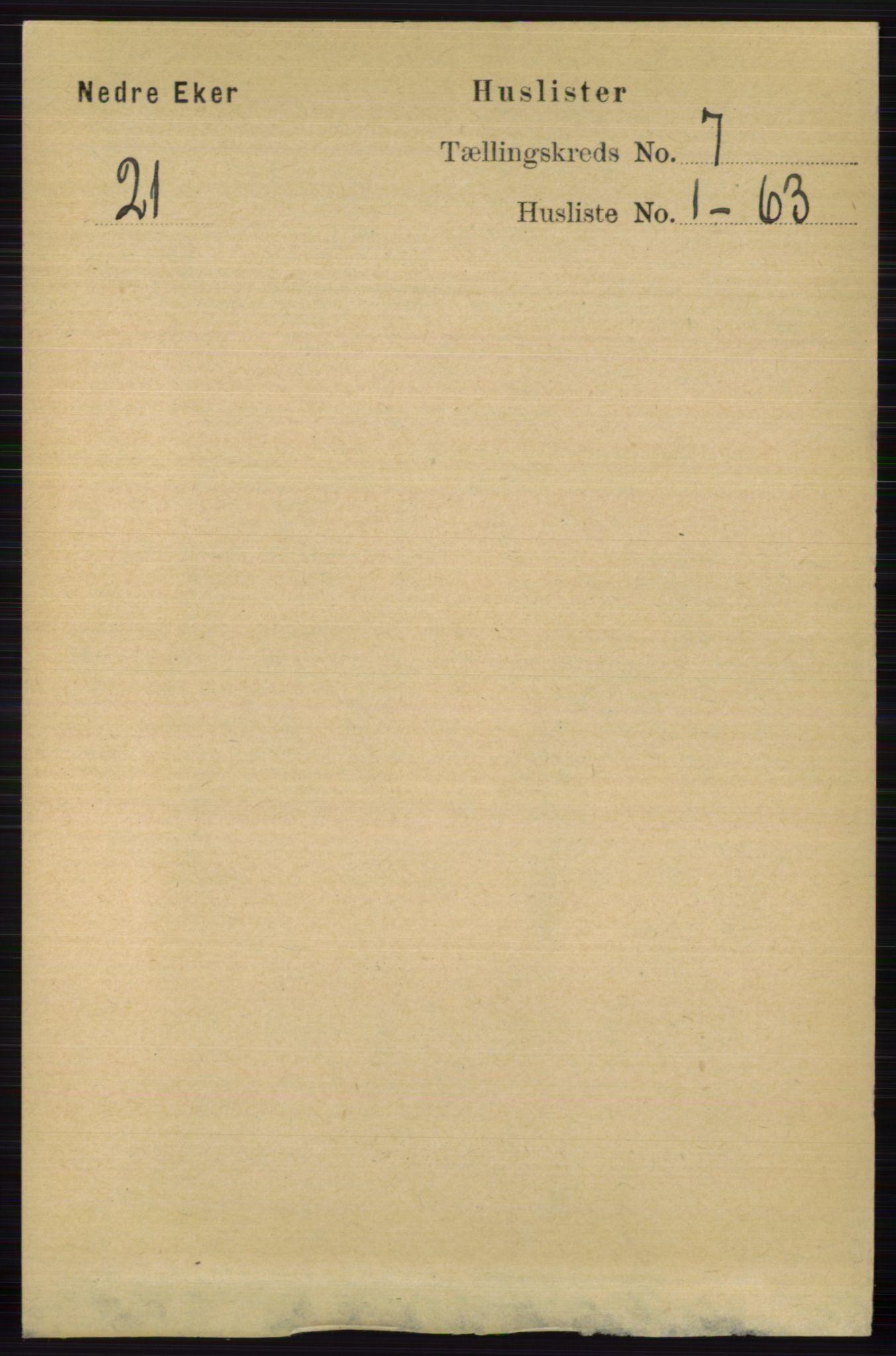 RA, Folketelling 1891 for 0625 Nedre Eiker herred, 1891, s. 3339