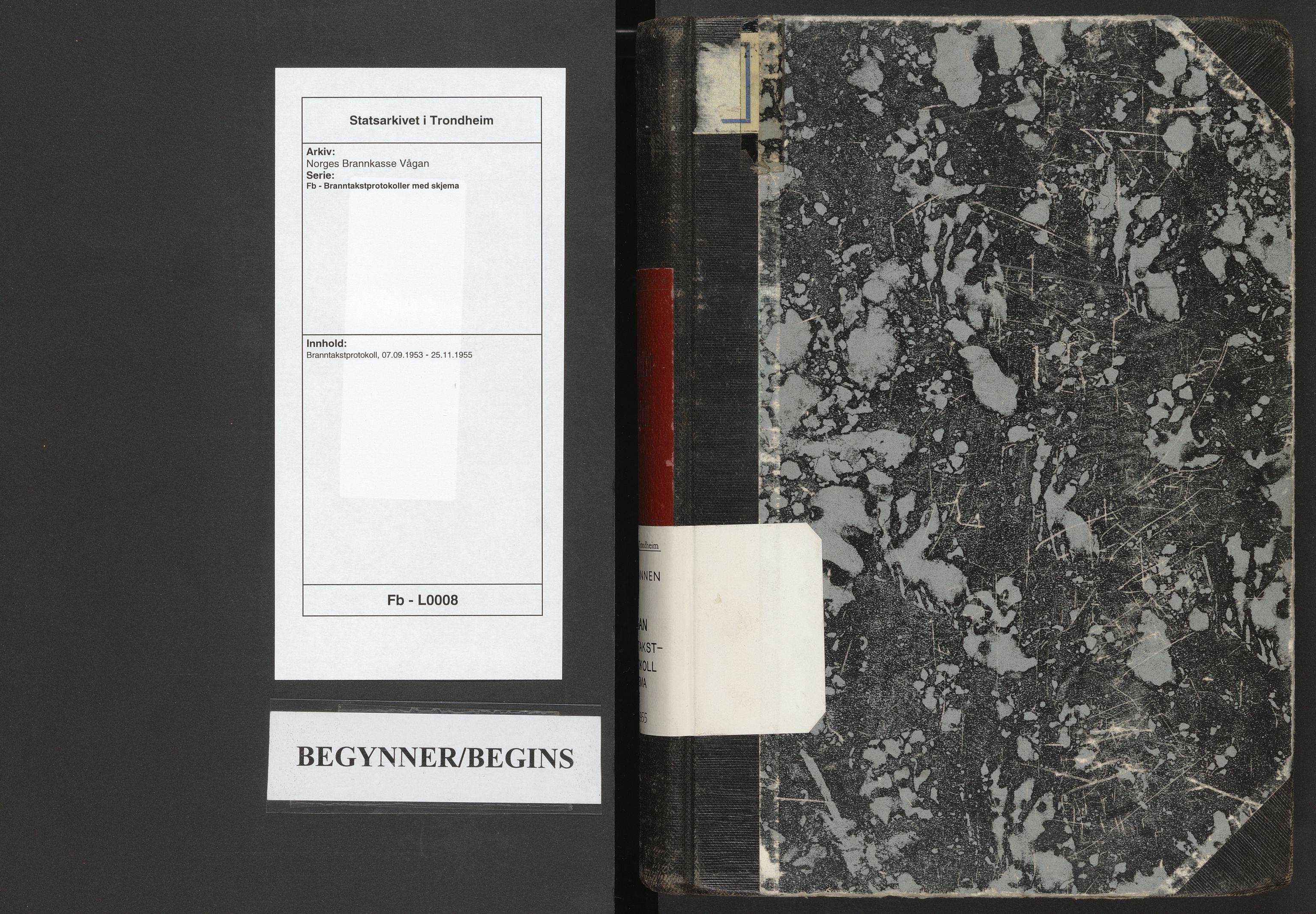 SAT, Norges Brannkasse Vågan, Fb/L0008: Branntakstprotokoll, 1953-1955