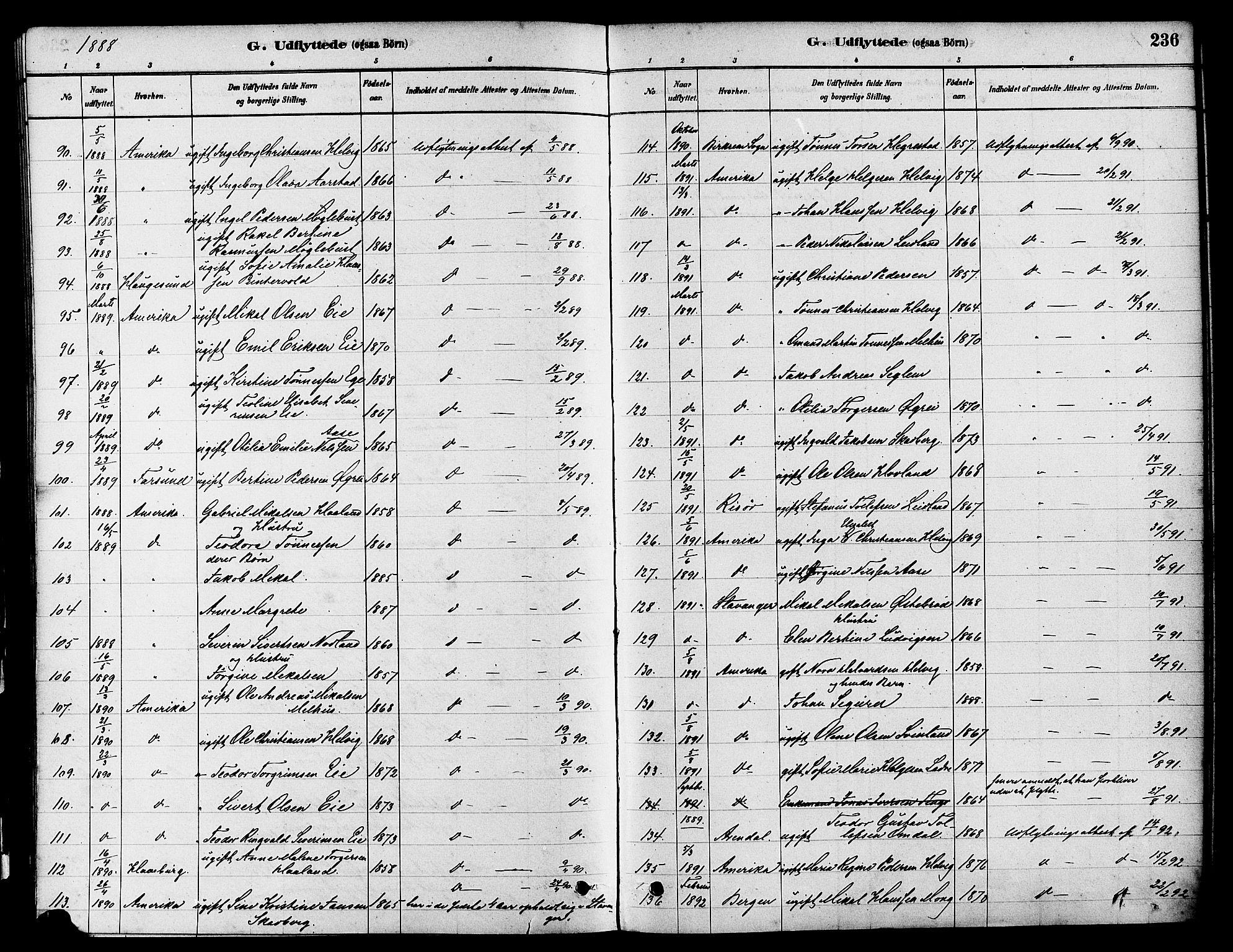 SAST, Egersund sokneprestkontor, S08/L0017: Ministerialbok nr. A 14, 1879-1892, s. 236