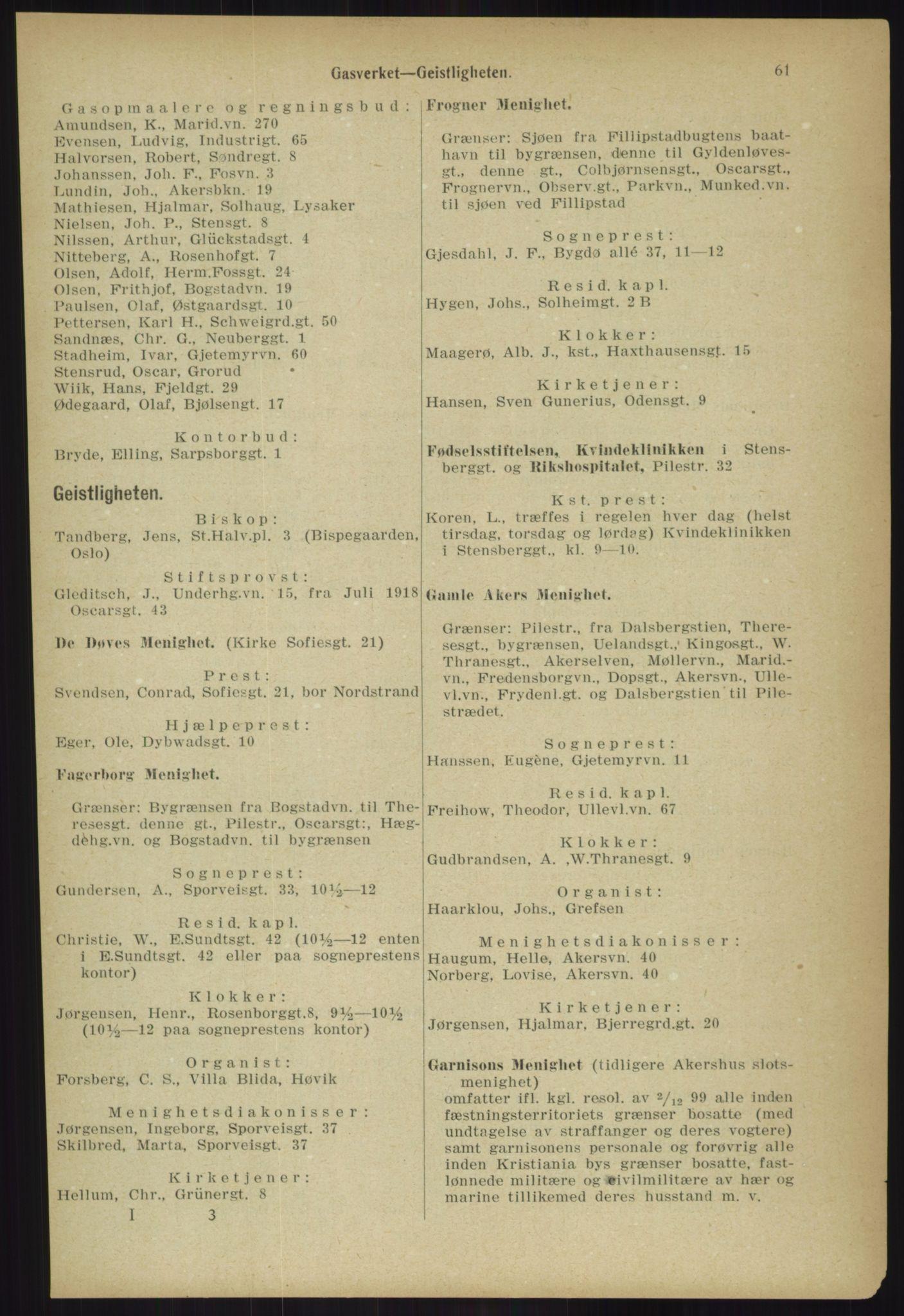 PUBL, Kristiania/Oslo adressebok, 1918, s. 68